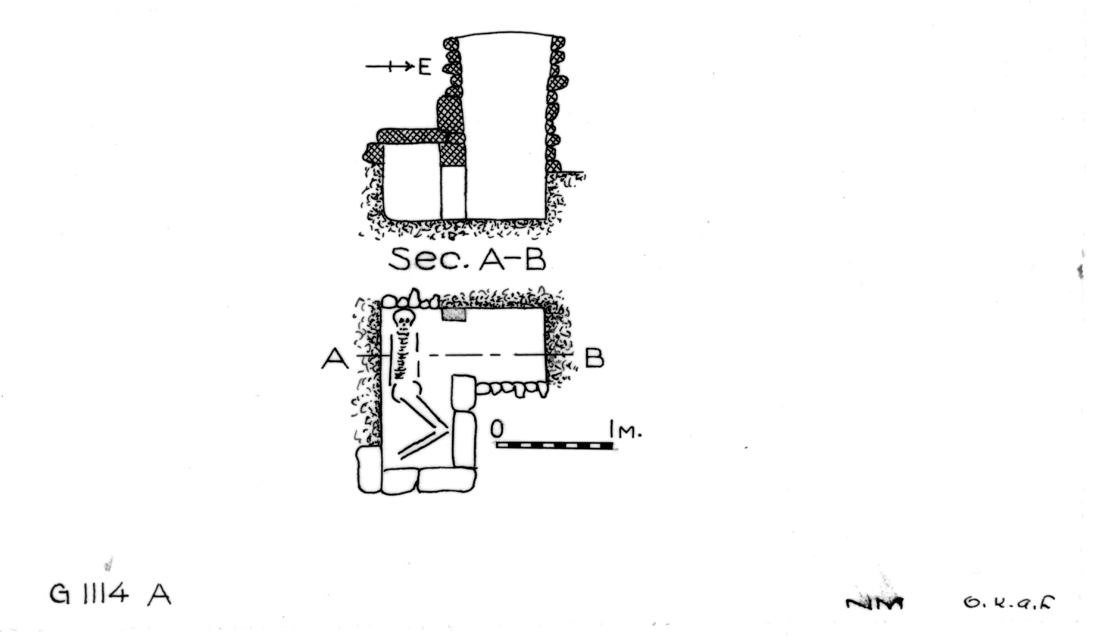 Maps and plans: G 1114, Shaft A