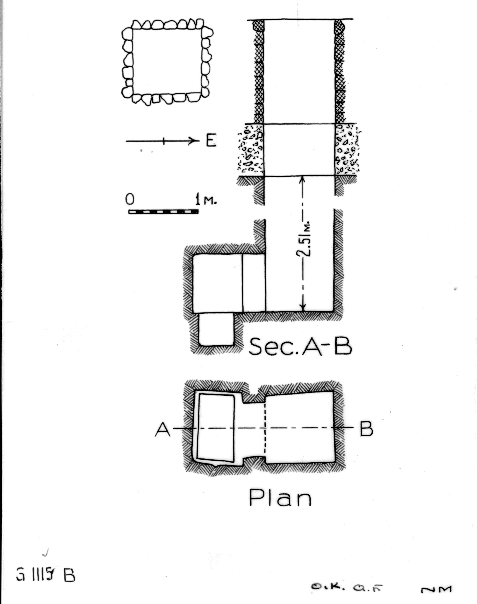 Maps and plans: G 1115, Shaft B