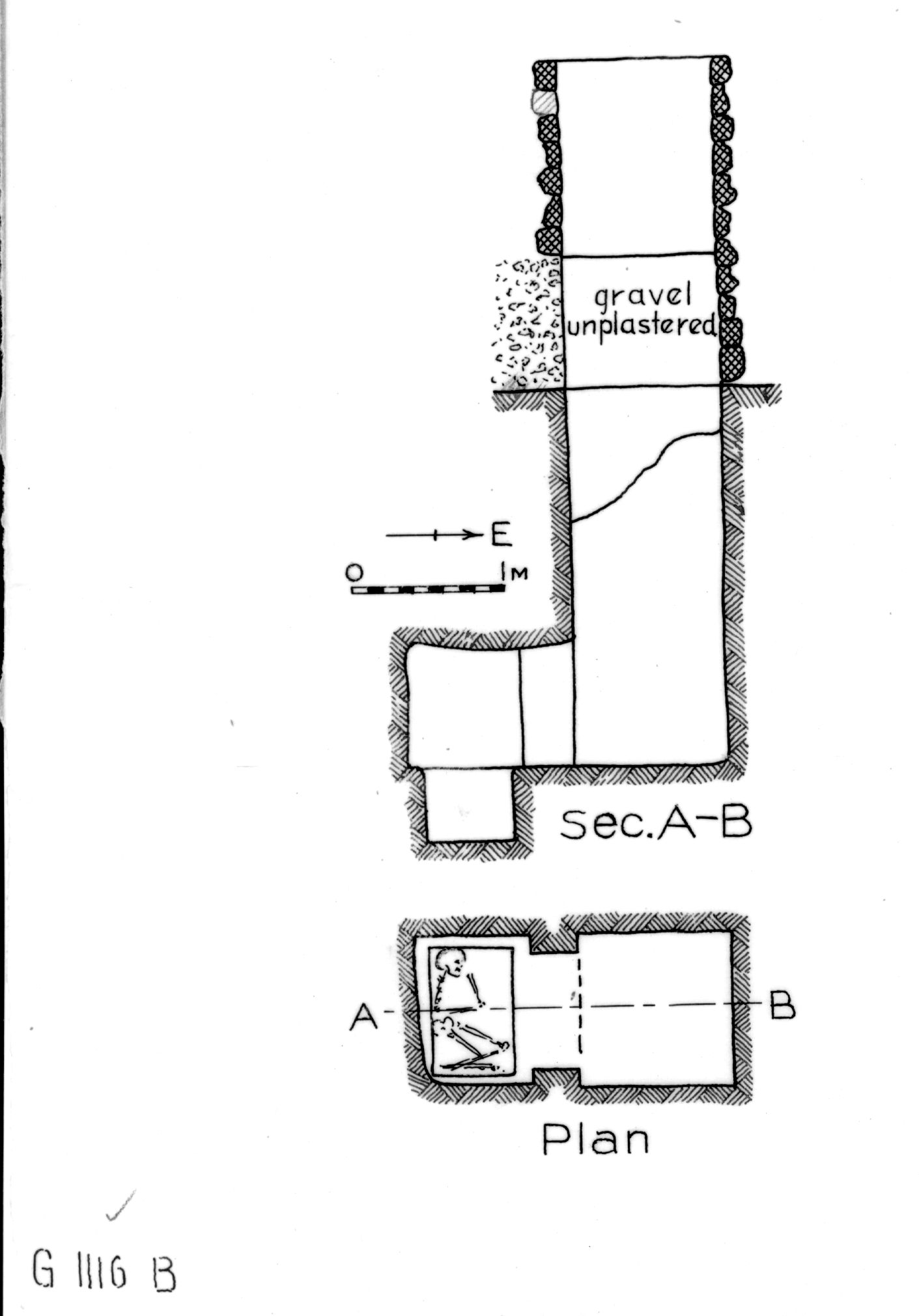Maps and plans: G 1116, Shaft B