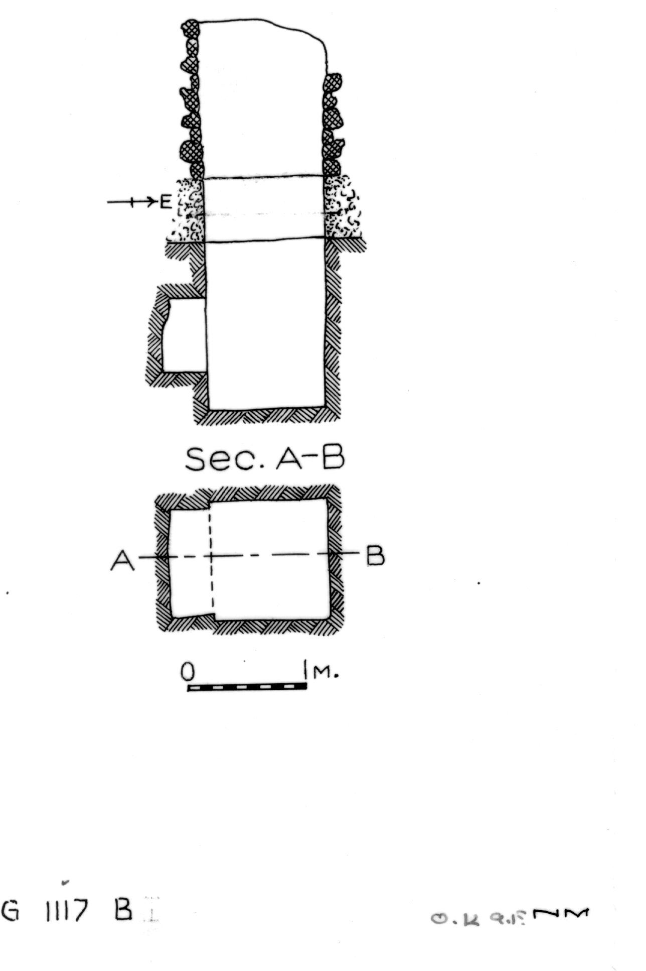 Maps and plans: G 1117, Shaft B