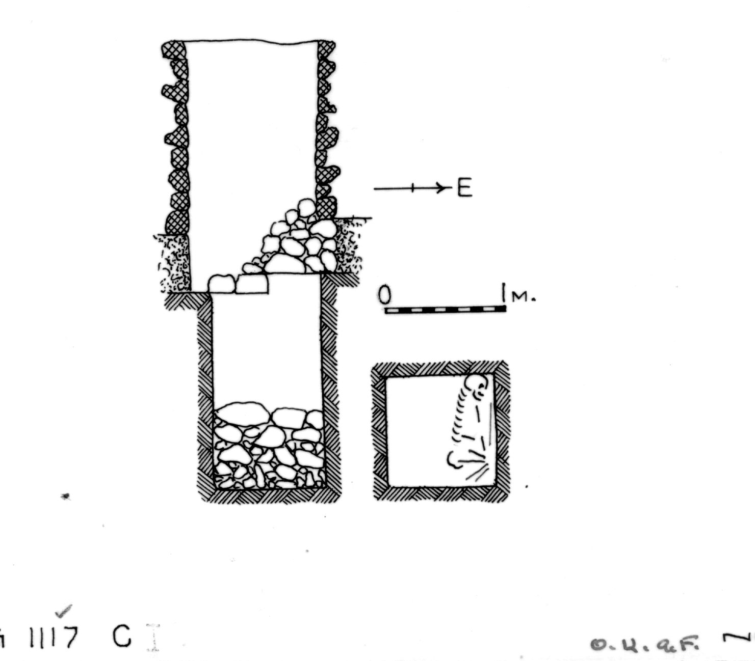 Maps and plans: G 1117, Shaft C