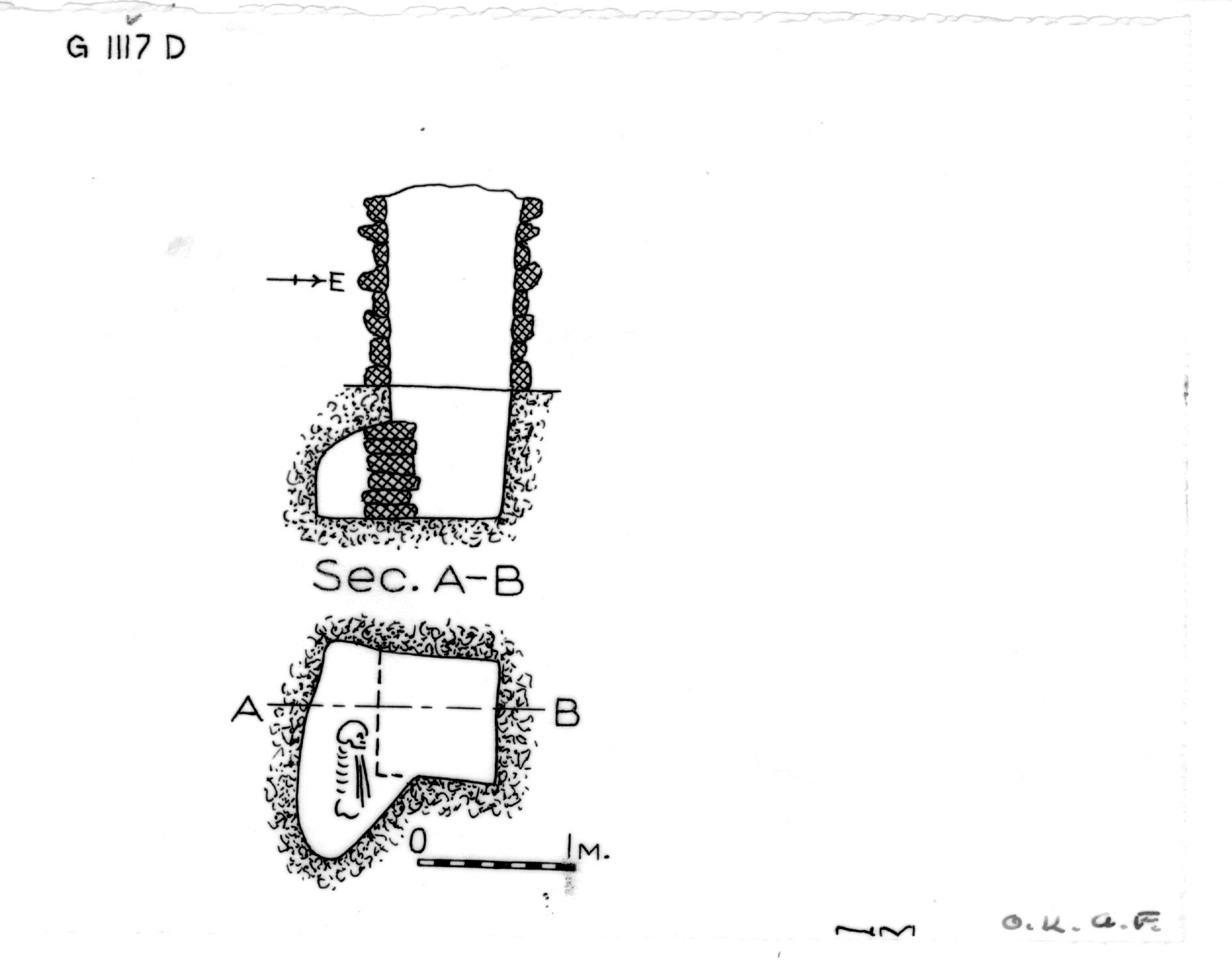 Maps and plans: G 1117, Shaft D