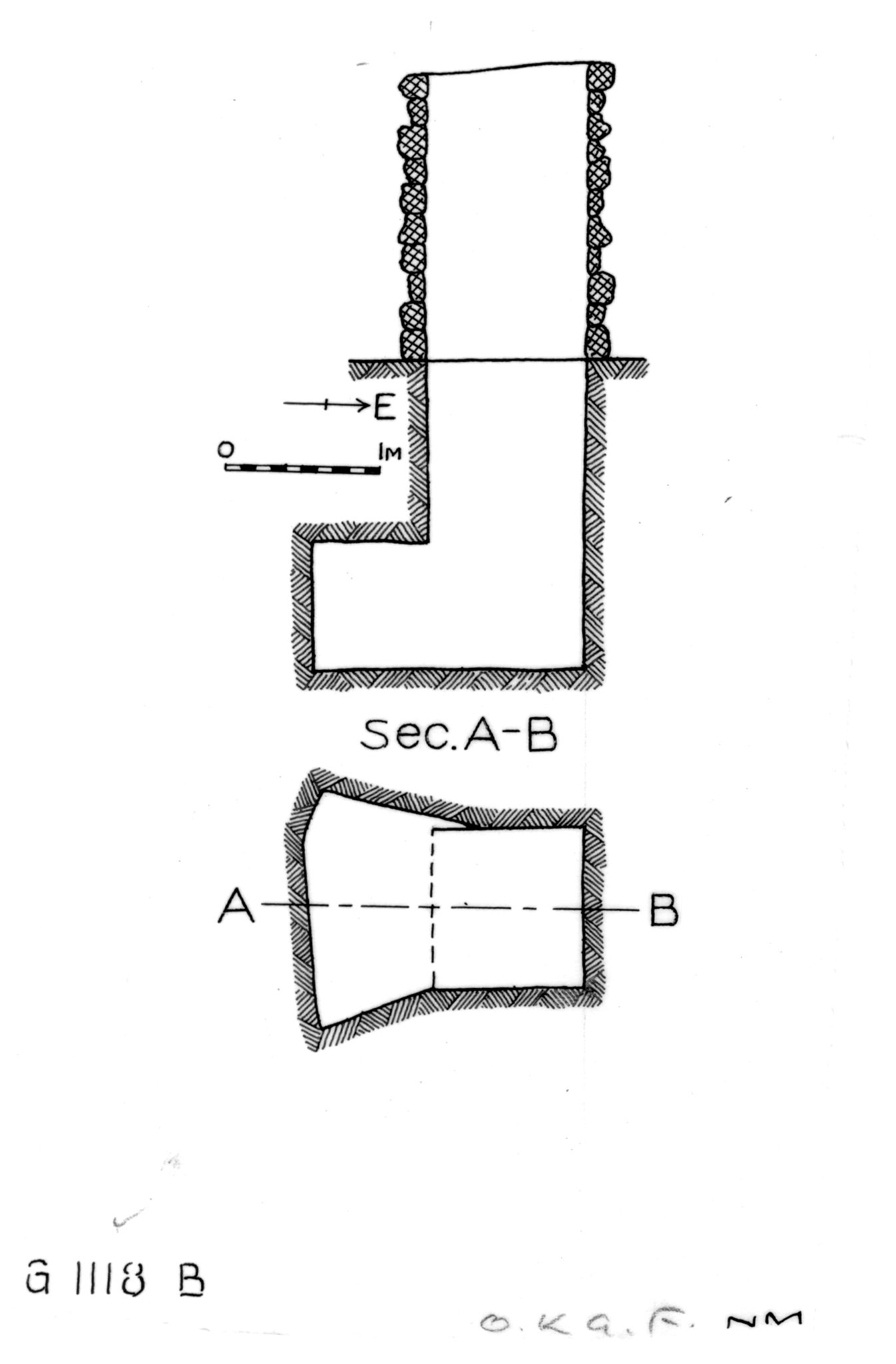 Maps and plans: G 1118, Shaft B
