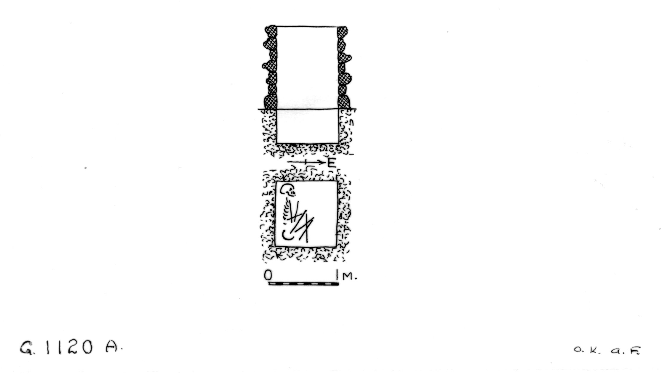 Maps and plans: G 1120, Shaft A