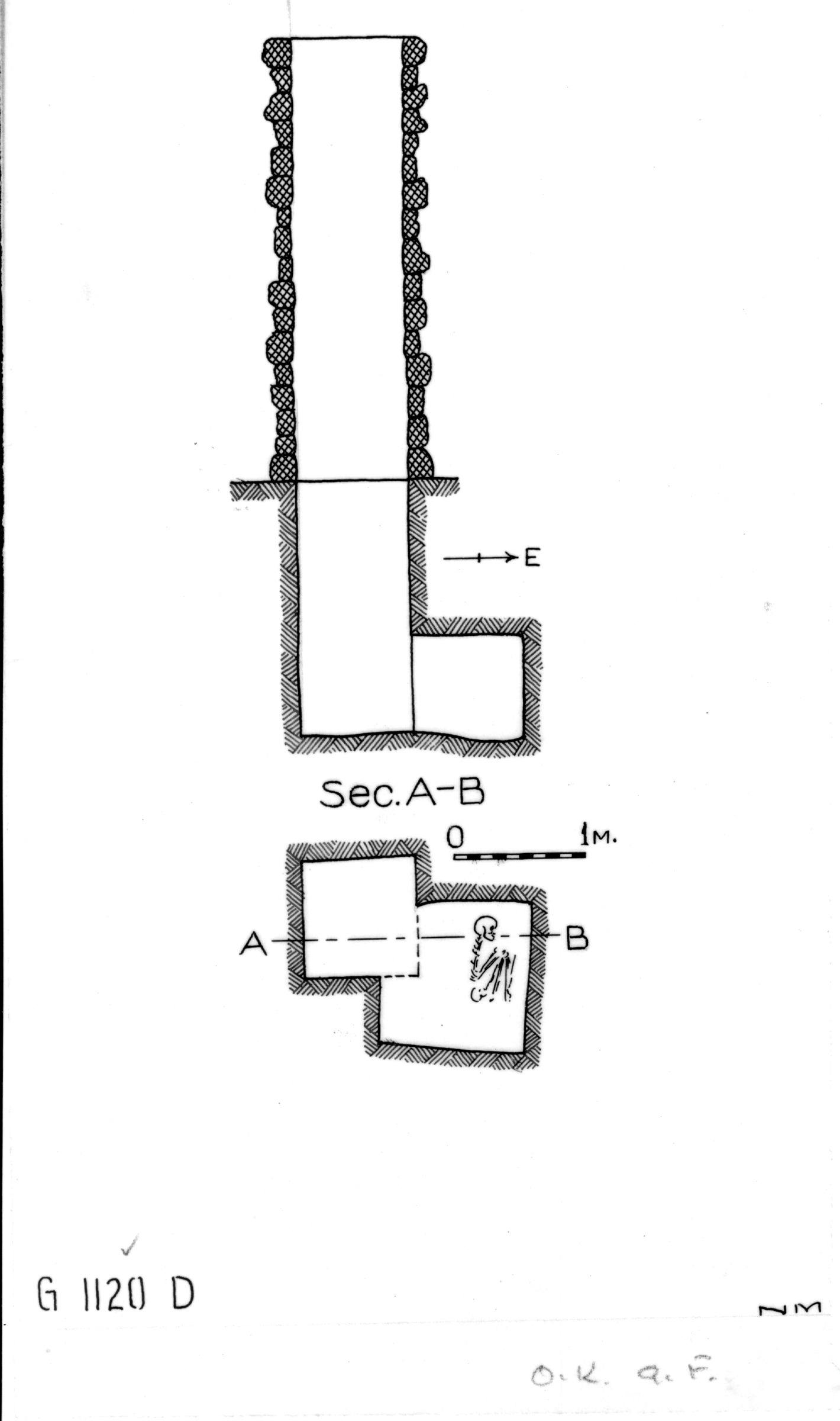 Maps and plans: G 1120, Shaft D