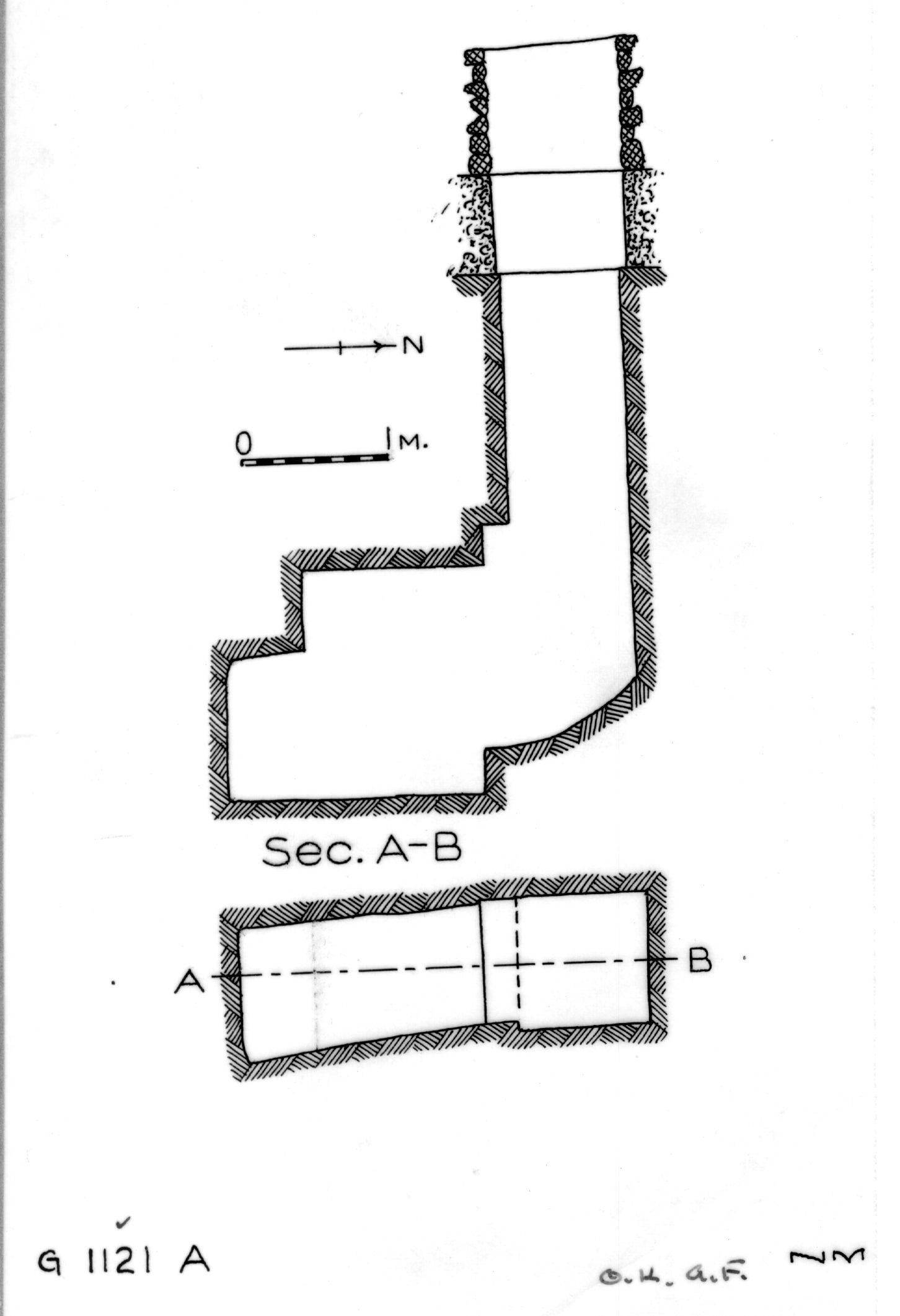Maps and plans: G 1121, Shaft A