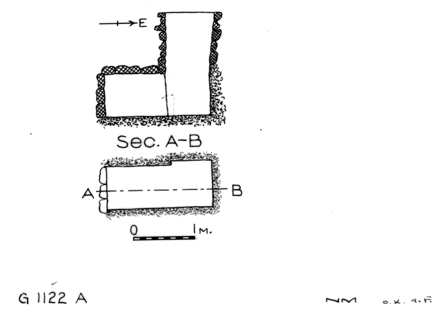 Maps and plans: G 1122, Shaft A