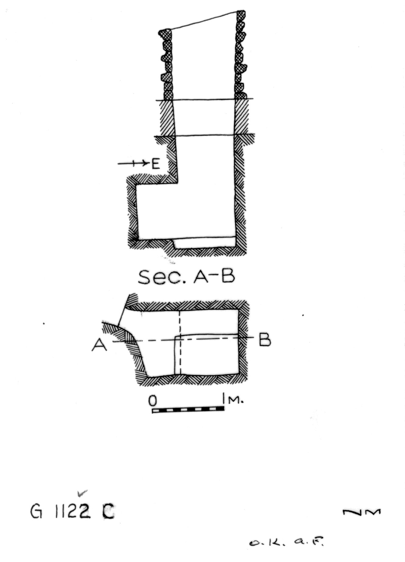 Maps and plans: G 1122, Shaft C