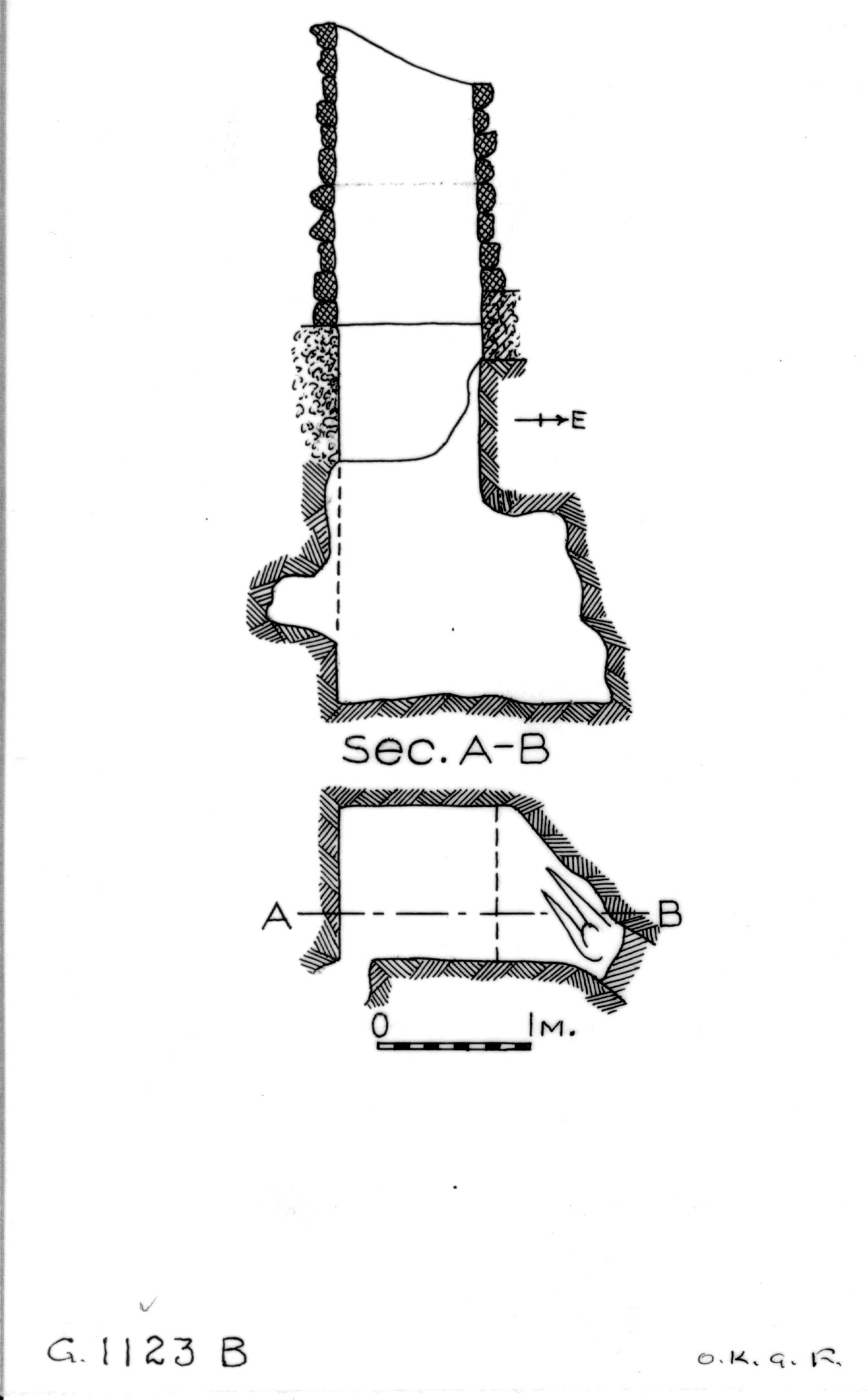 Maps and plans: G 1123, Shaft B