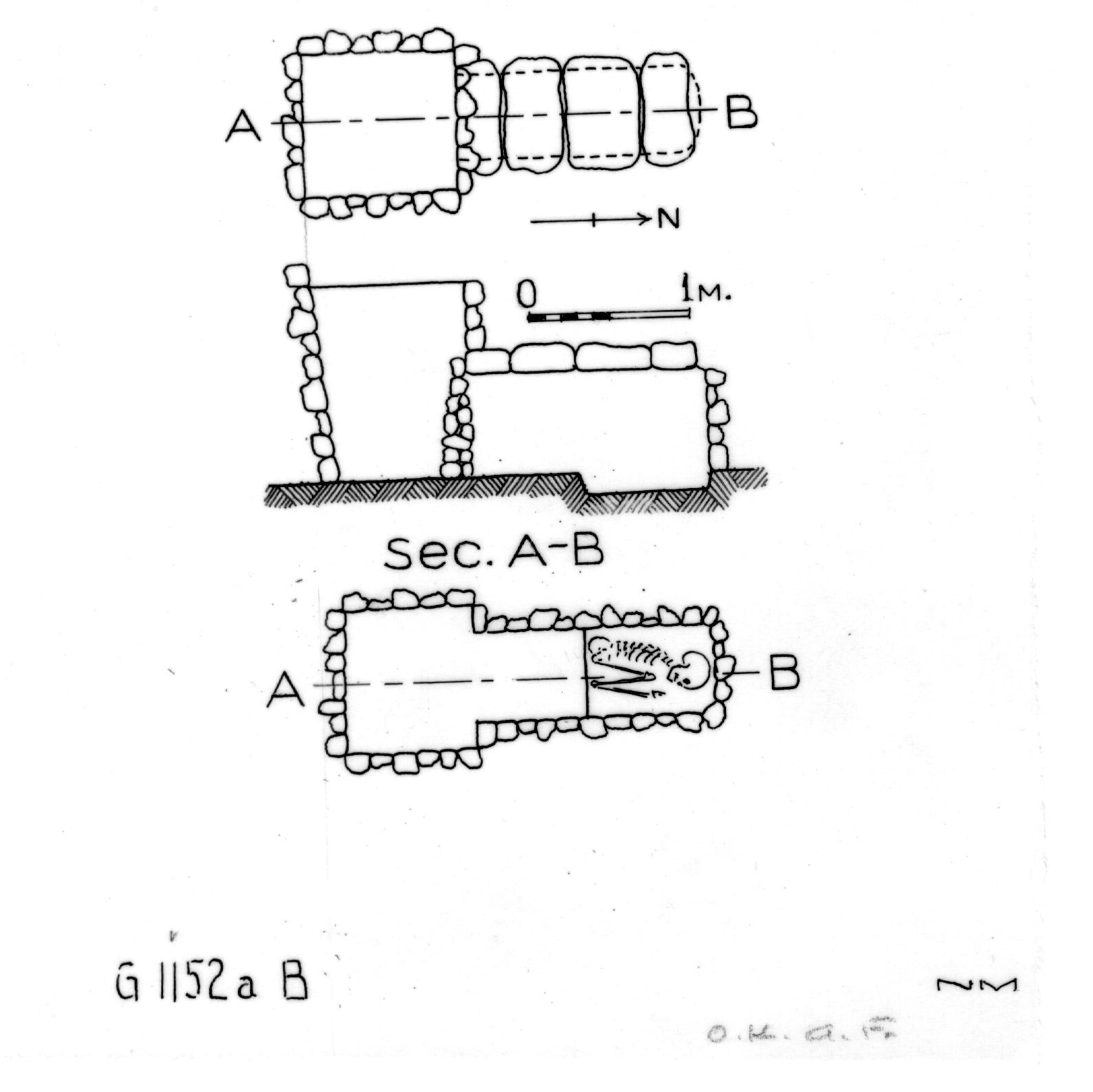 Maps and plans: G 1152a, Shaft B