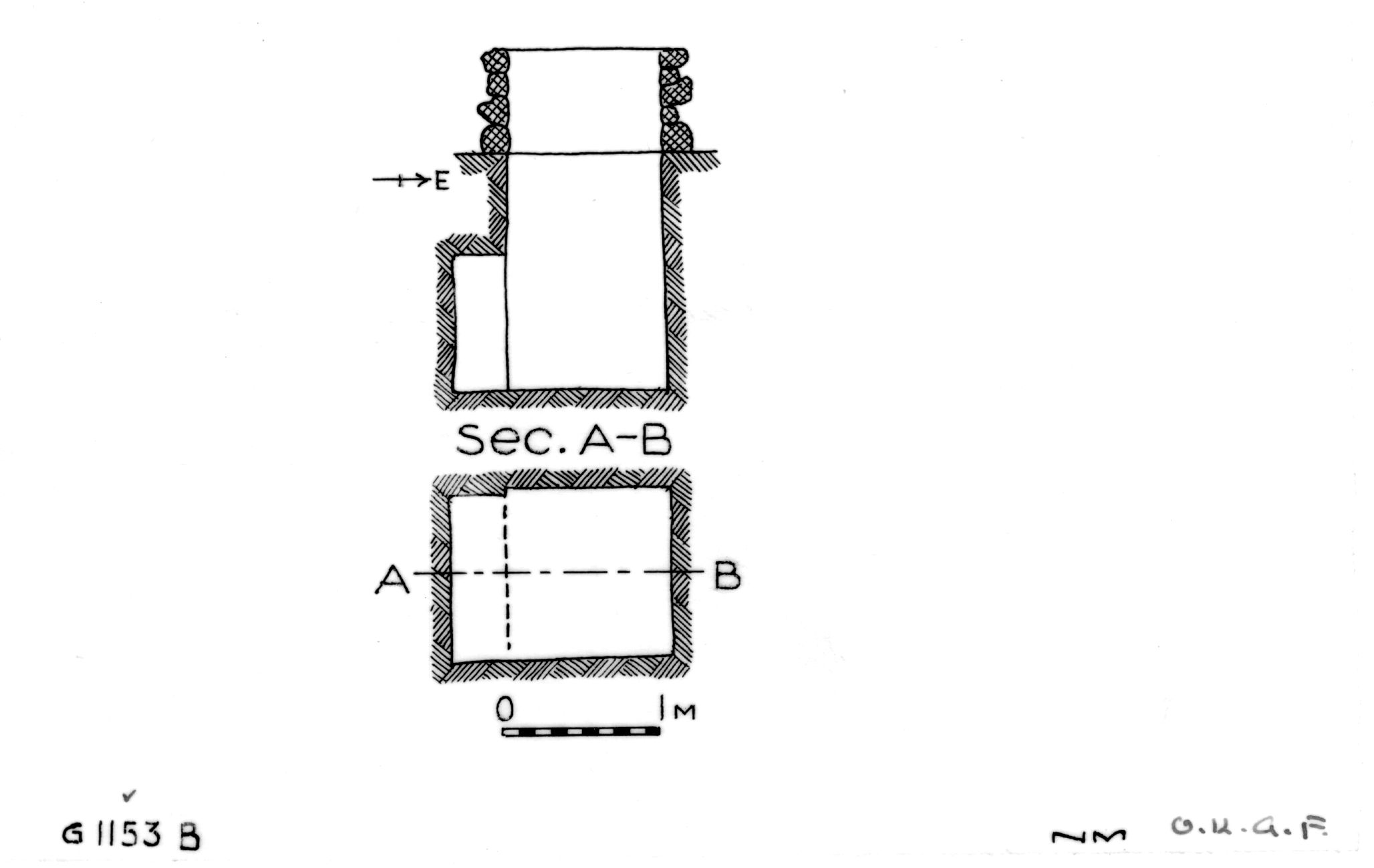 Maps and plans: G 1153, Shaft B