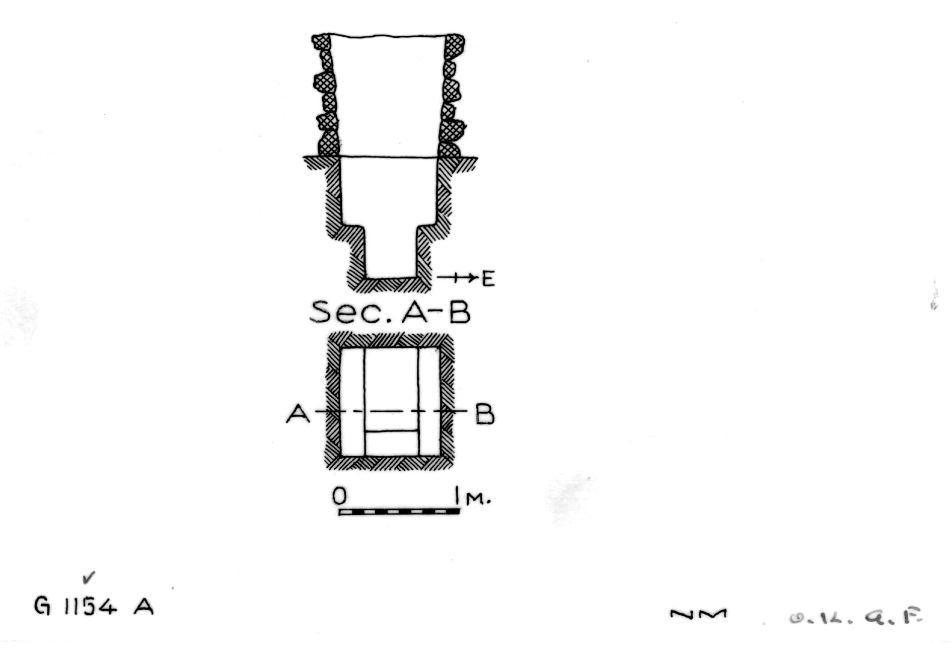 Maps and plans: G 1154, Shaft A