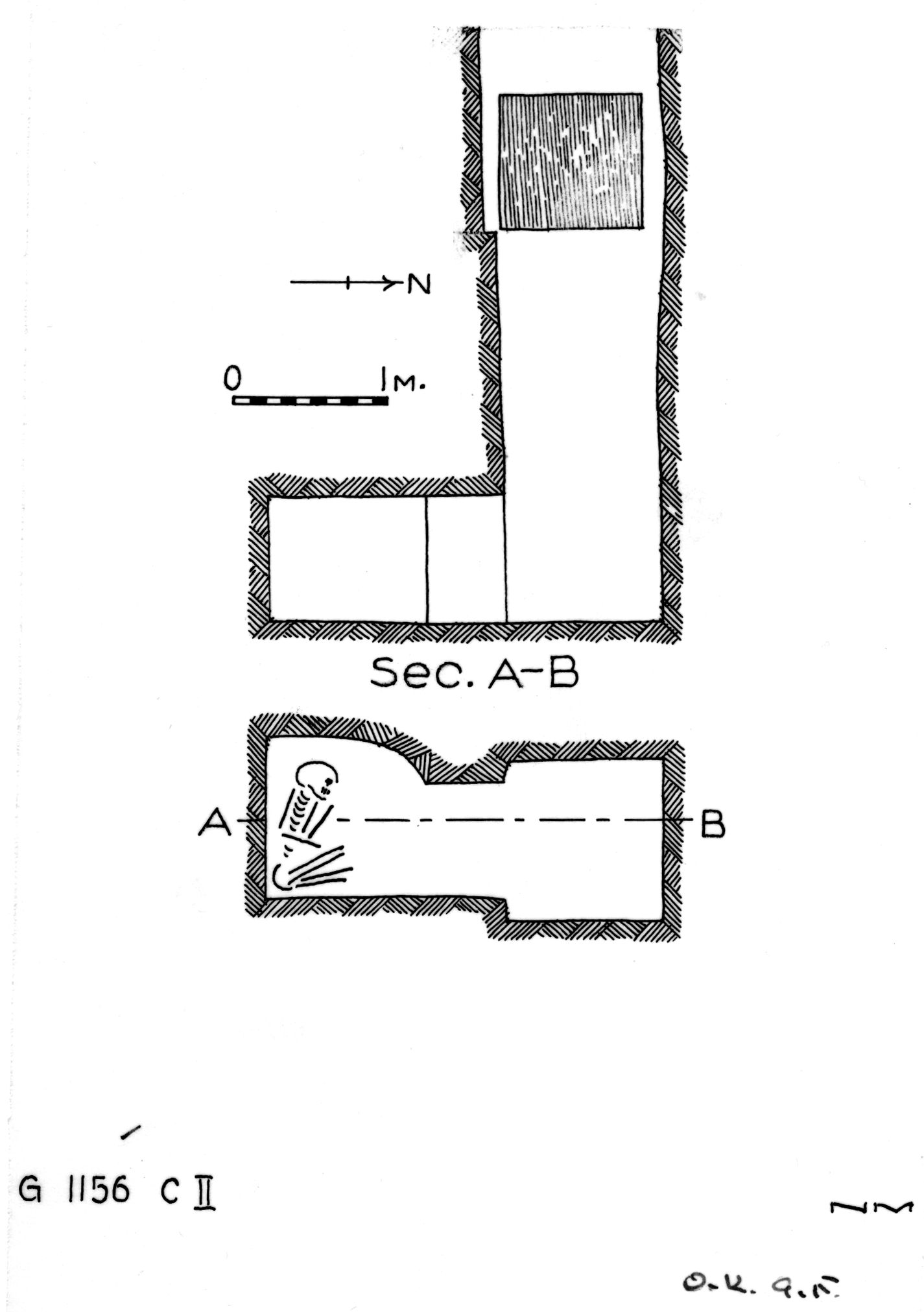 Maps and plans: G 1156, Shaft C (II)