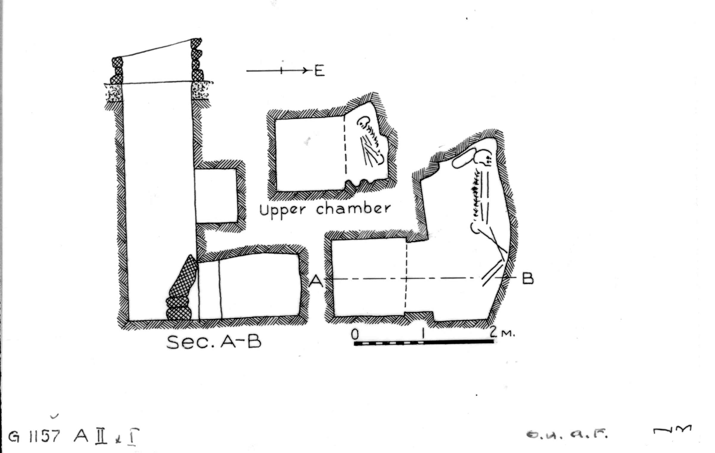 Maps and plans: G 1157, Shaft A