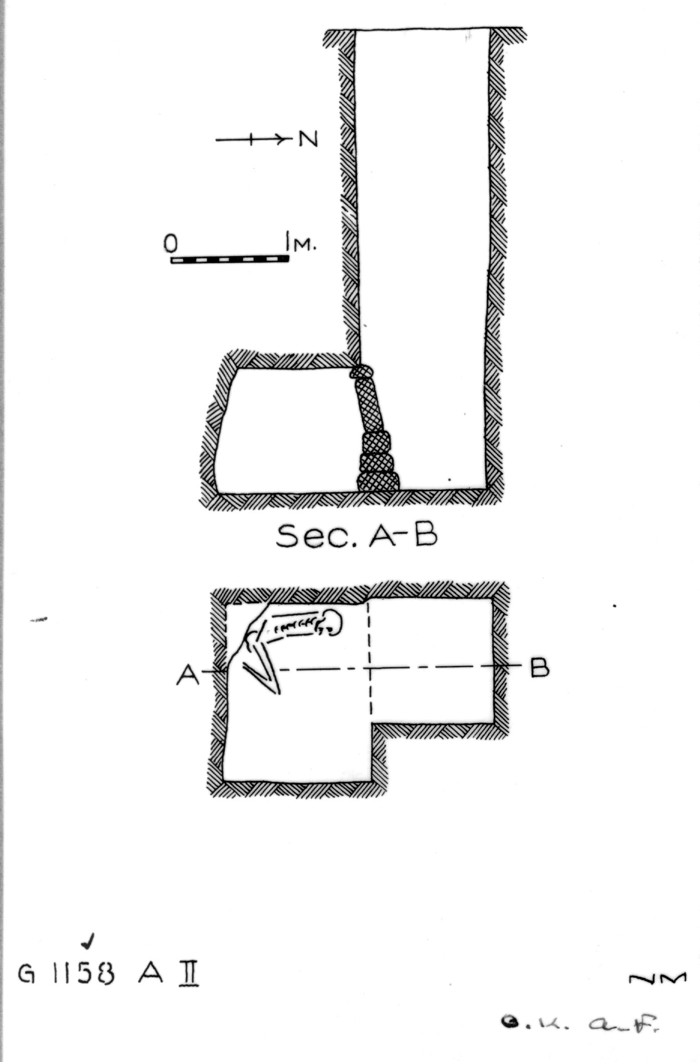 Maps and plans: G 1158, Shaft A (II)