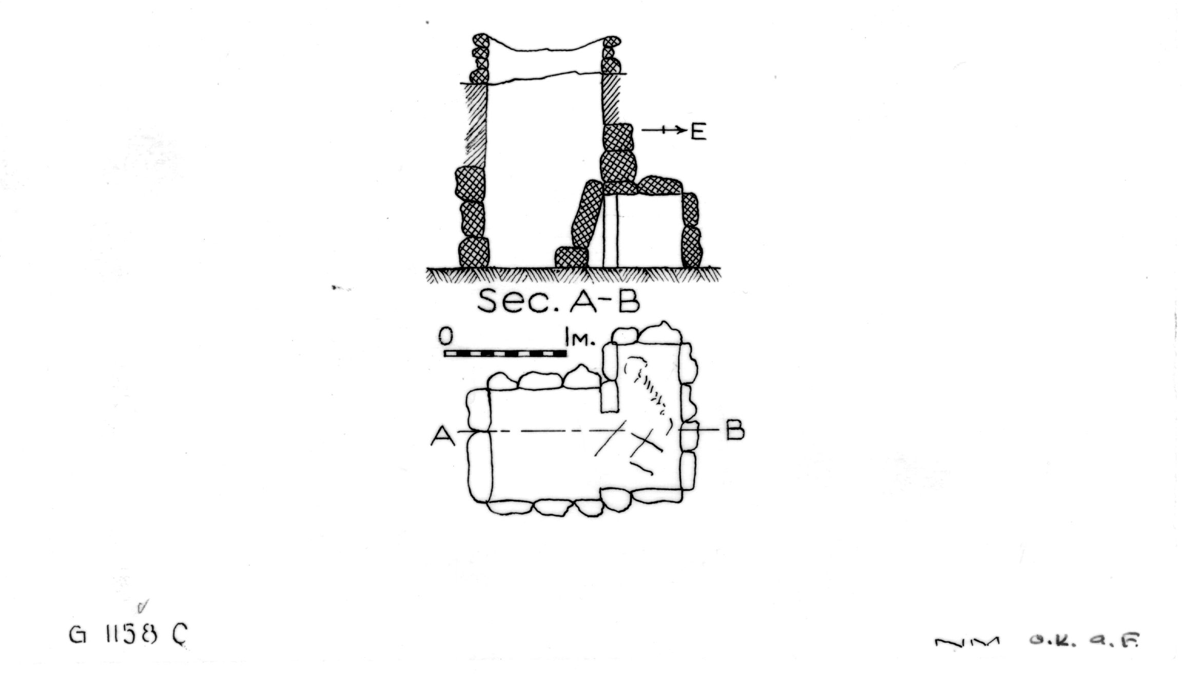 Maps and plans: G 1158, Shaft C