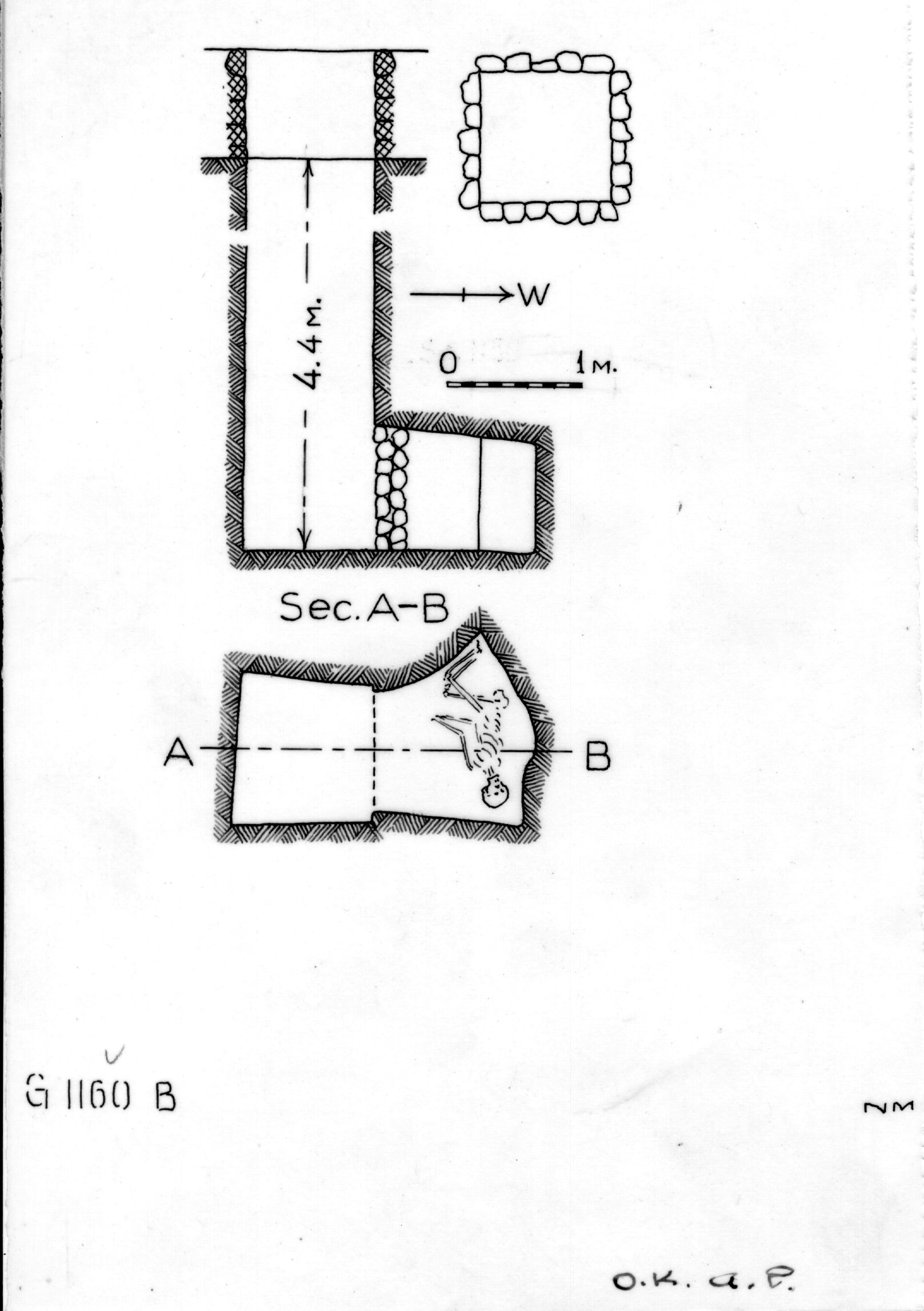 Maps and plans: G 1160, Shaft B