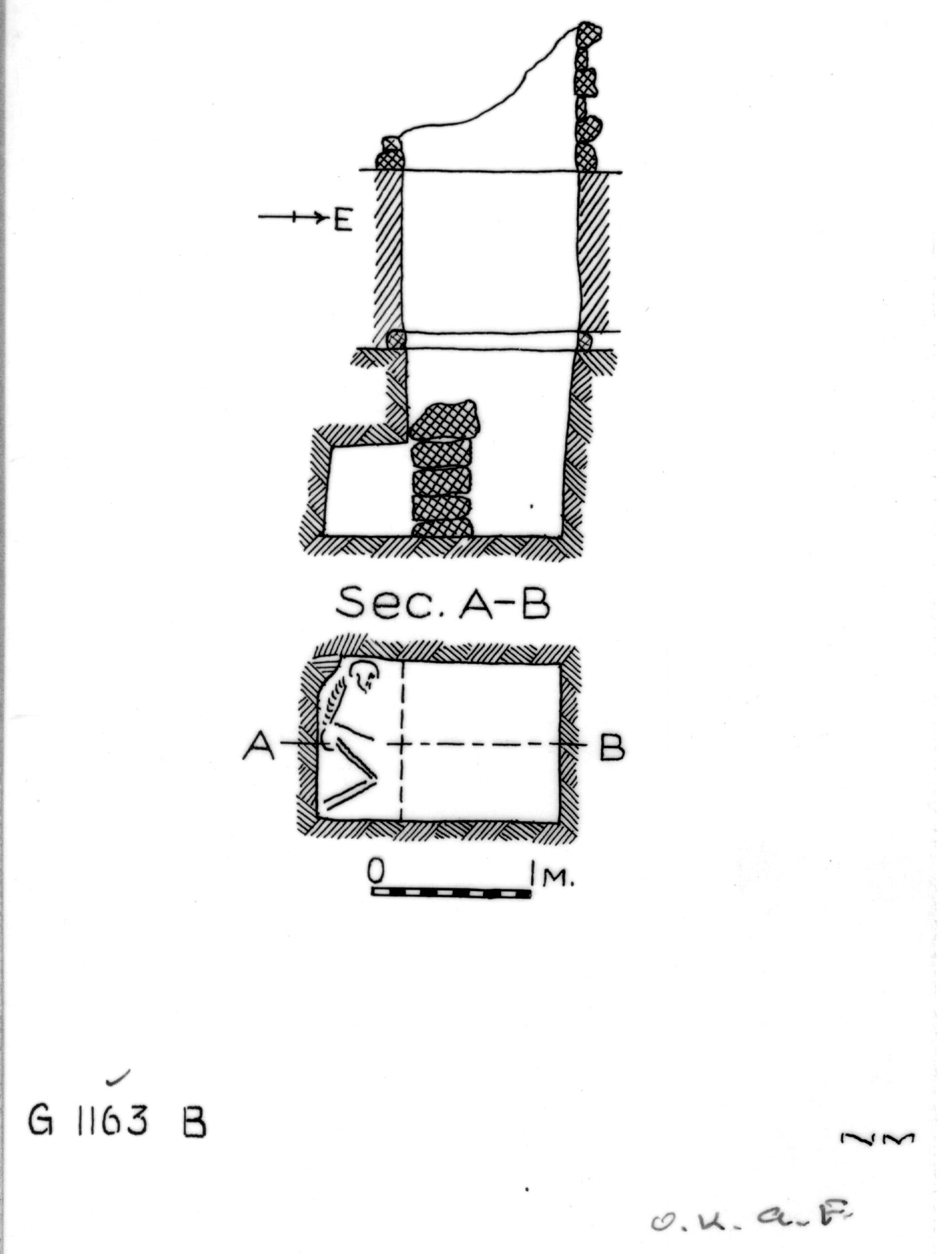 Maps and plans: G 1163+1166: G 1163, Shaft B