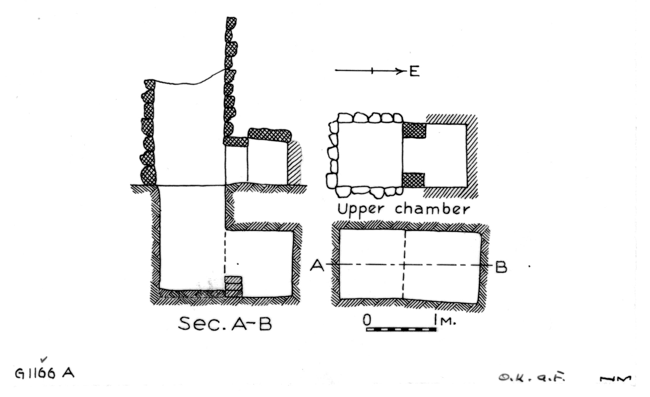 Maps and plans: G 1163+1166: G 1166, Shaft A