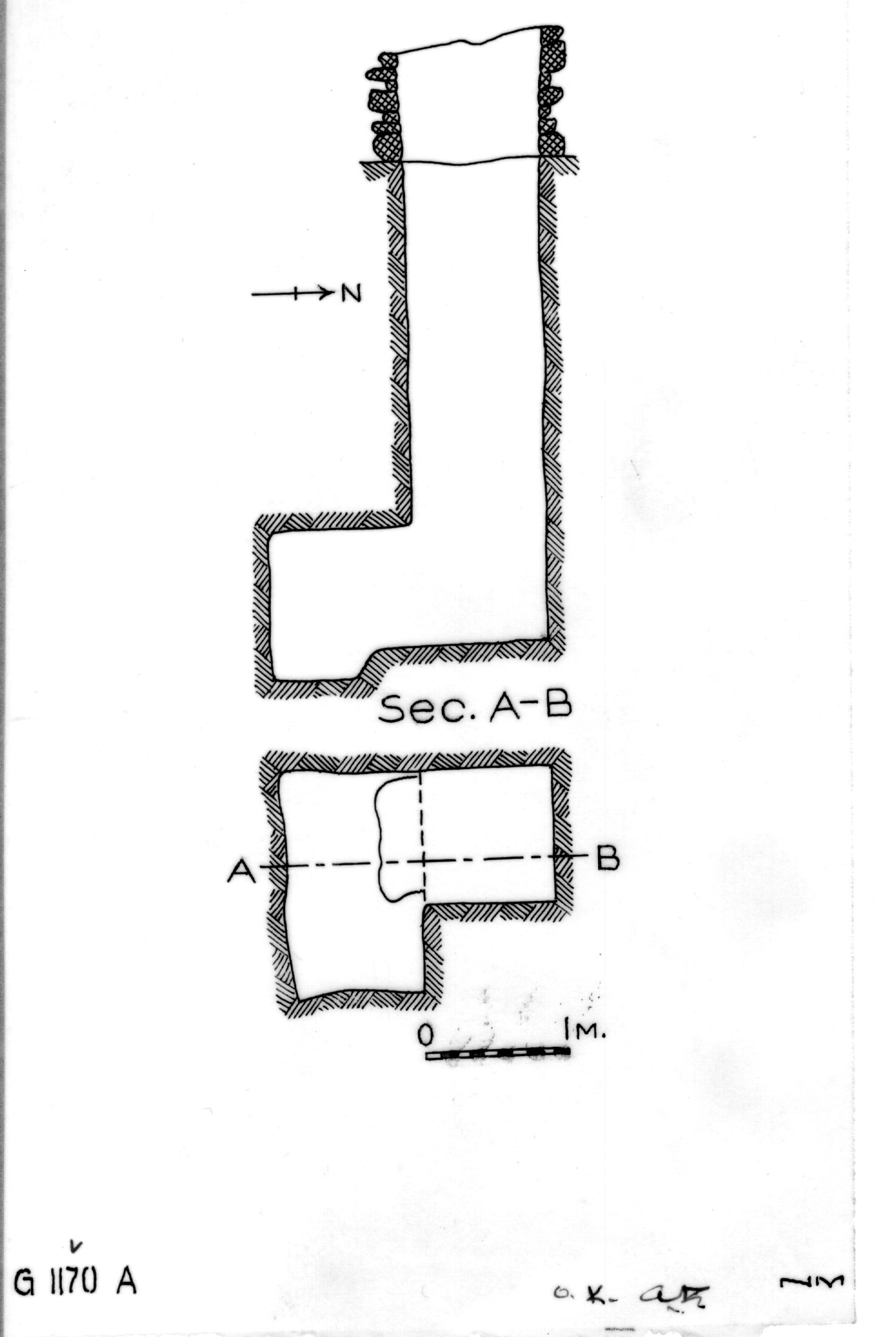 Maps and plans: G 1170, Shaft A