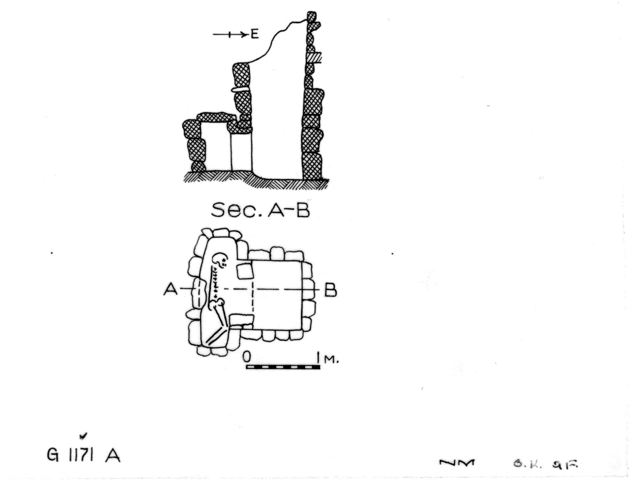 Maps and plans: G 1171, Shaft A