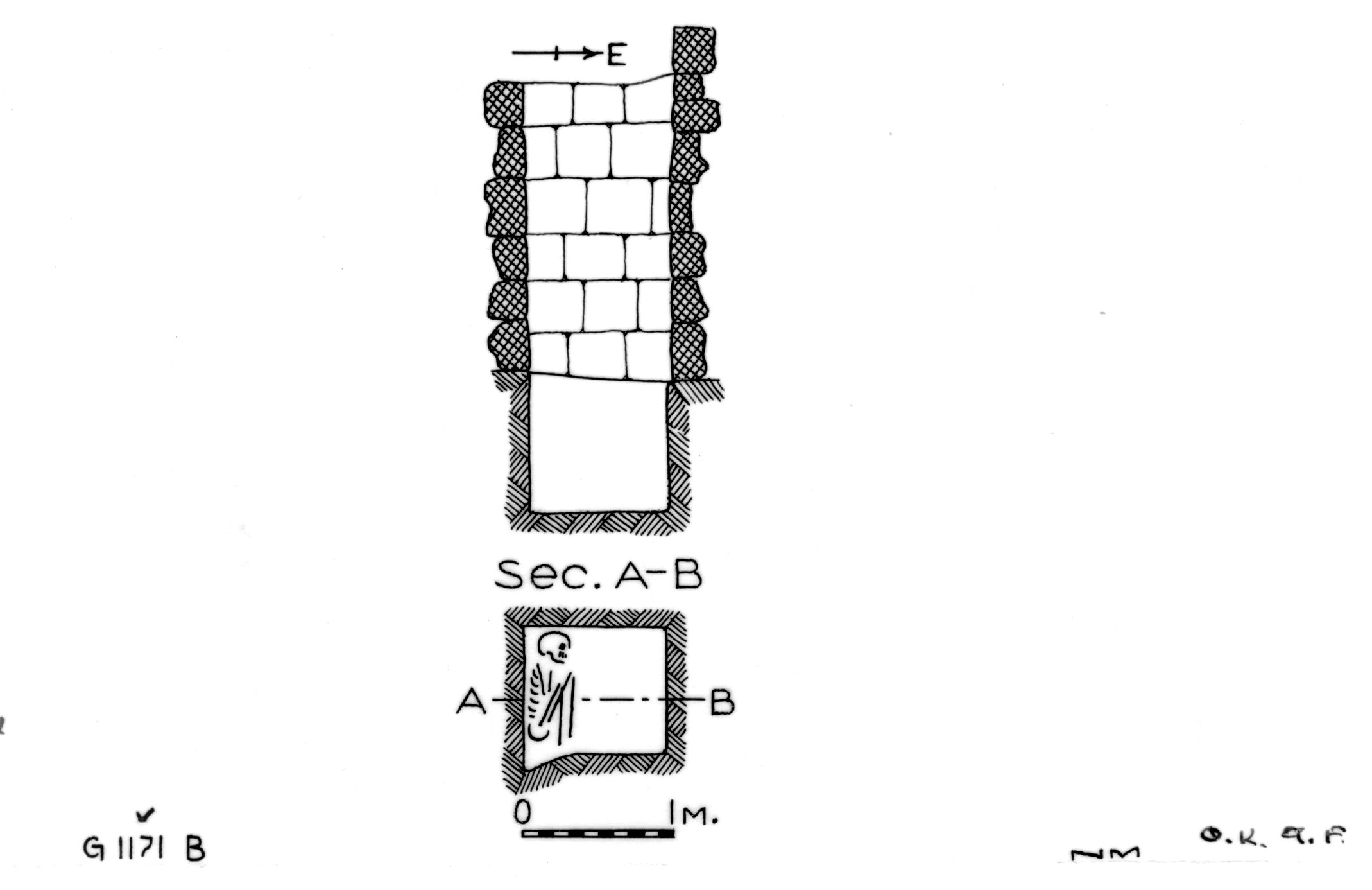 Maps and plans: G 1171, Shaft B