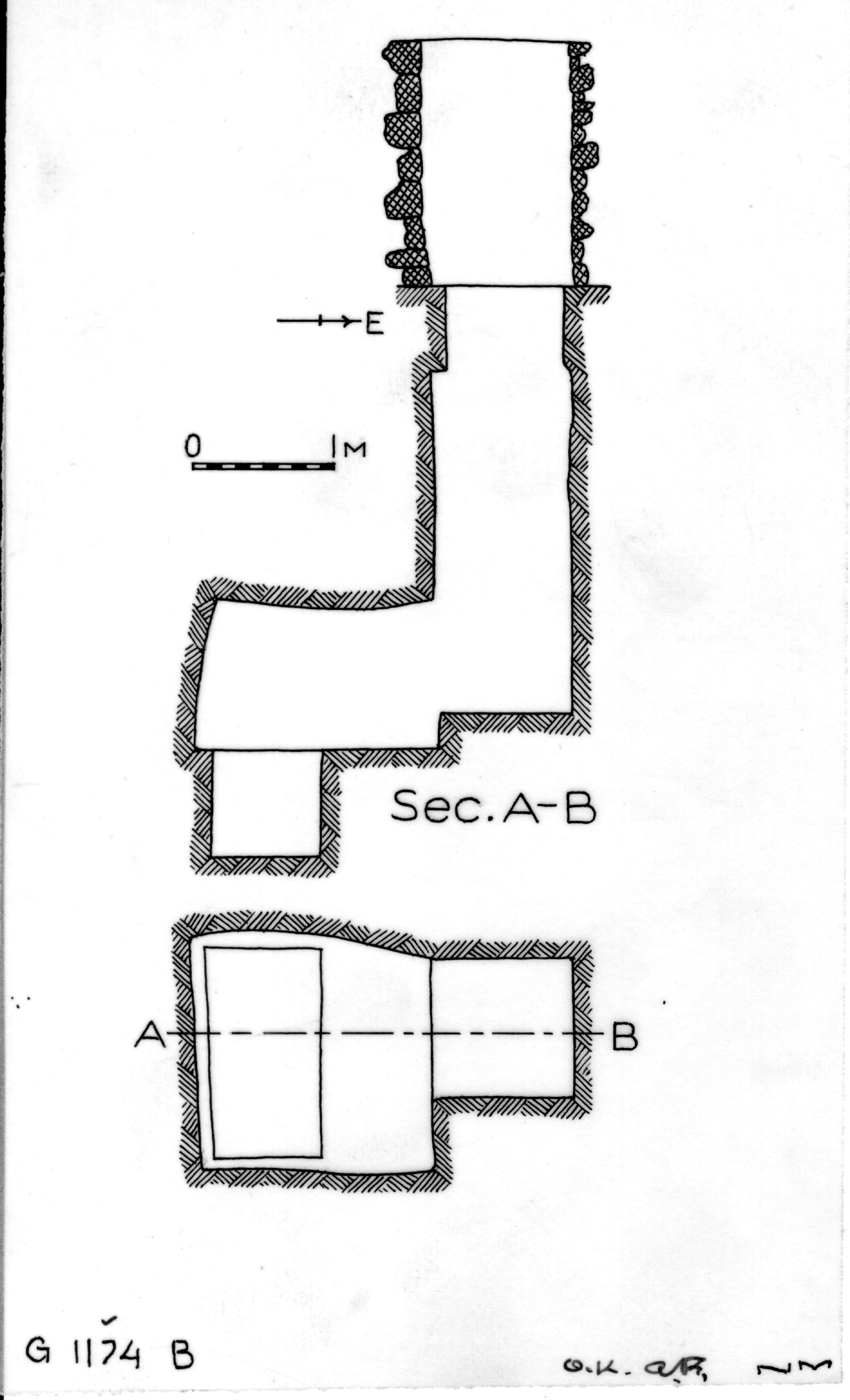 Maps and plans: G 1174, Shaft B