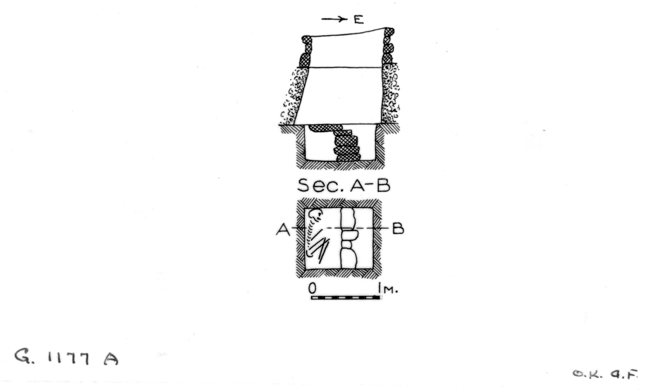 Maps and plans: G 1177, Shaft A