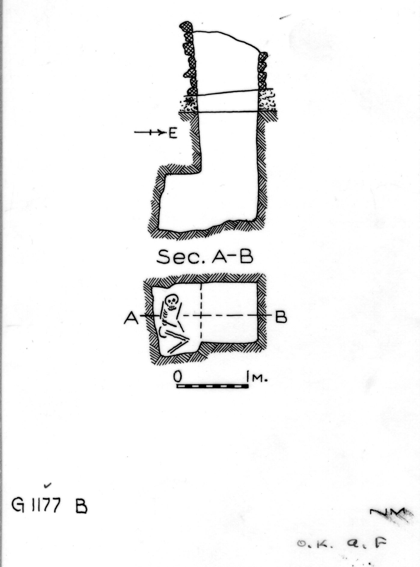 Maps and plans: G 1177, Shaft B