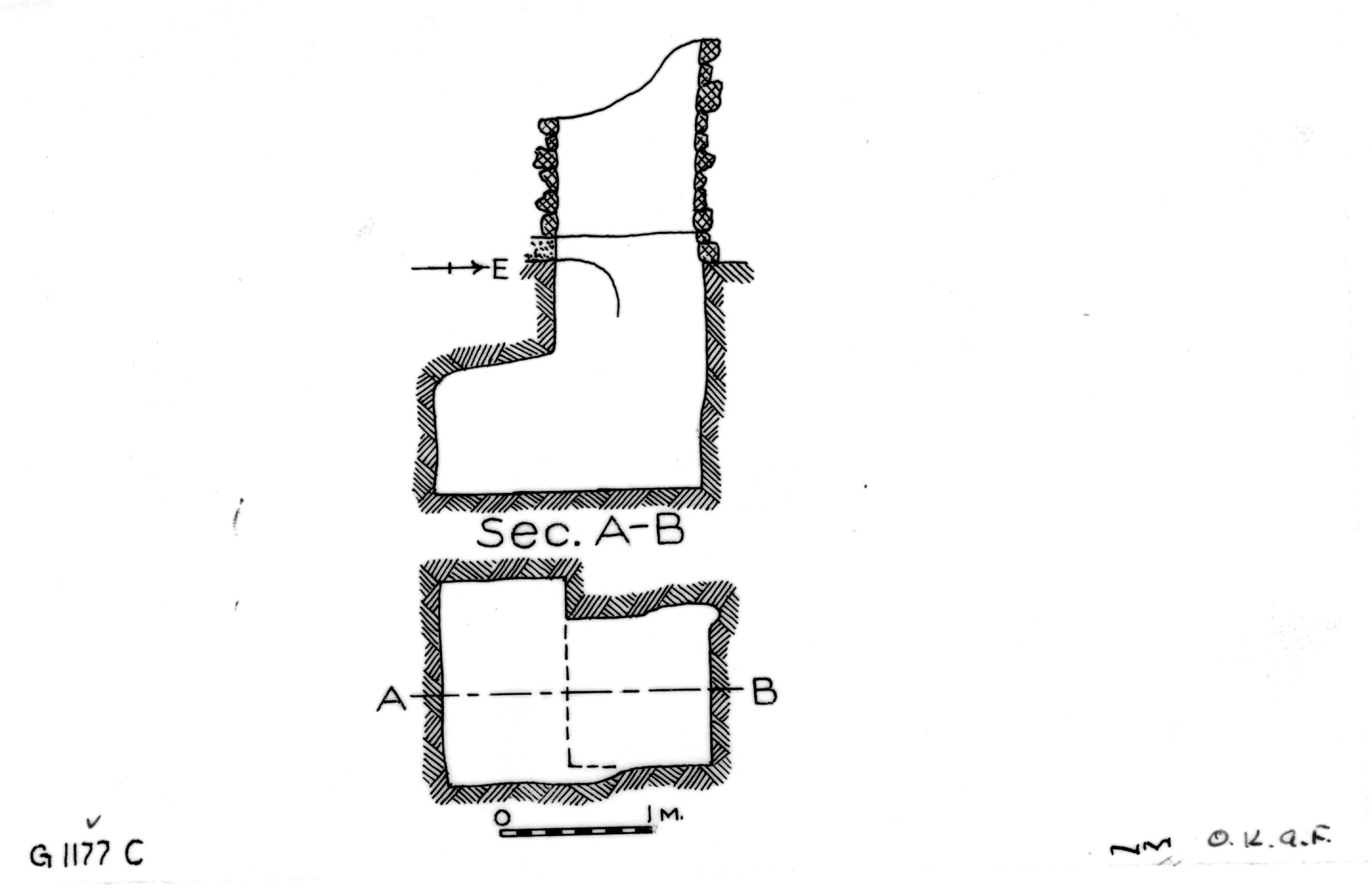 Maps and plans: G 1177, Shaft C