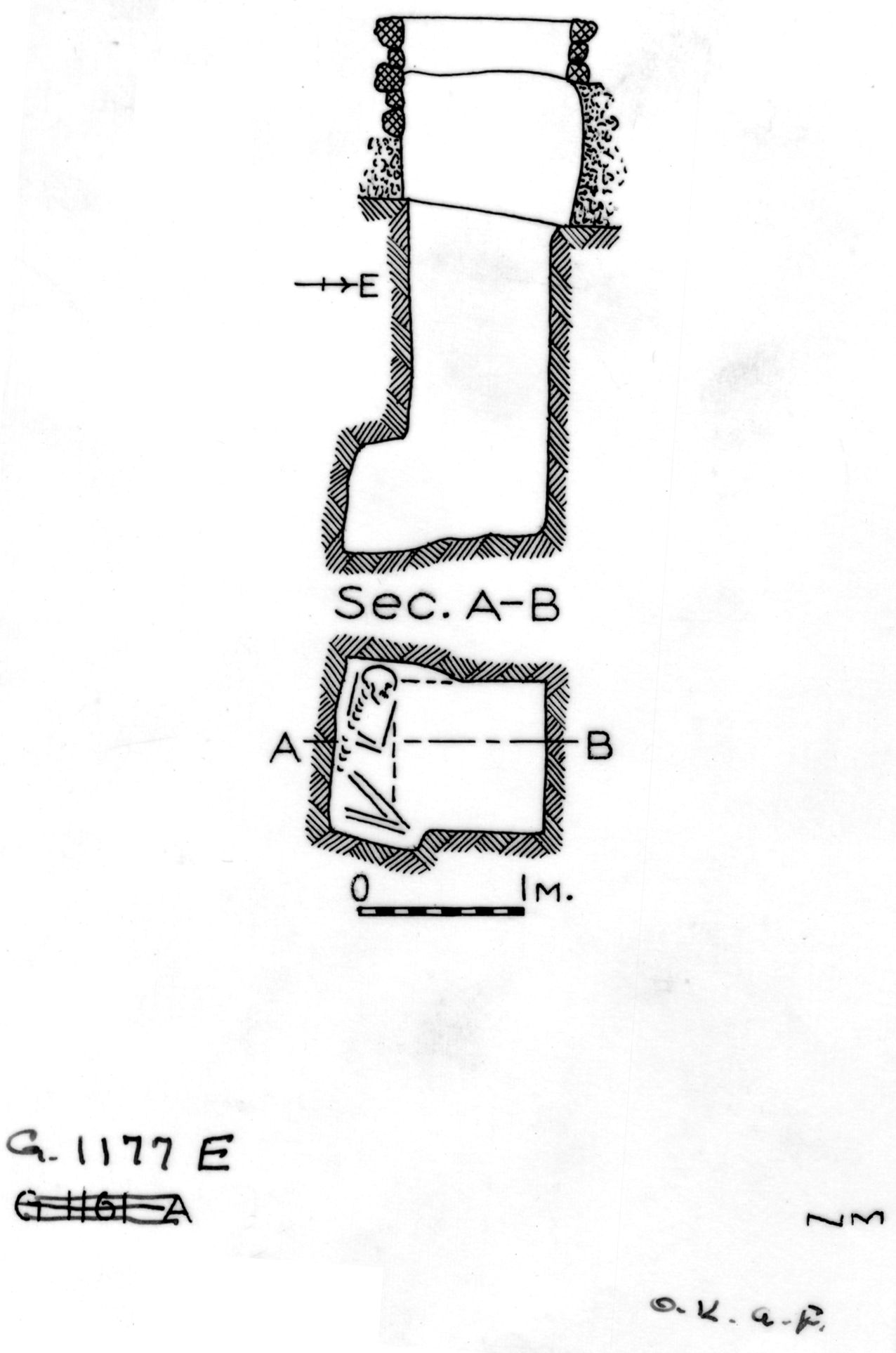 Maps and plans: G 1177, Shaft E