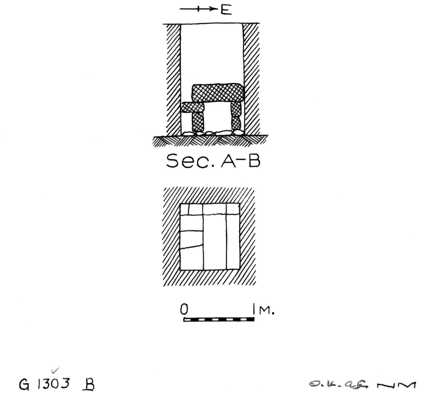 Maps and plans: G 1303, Shaft B