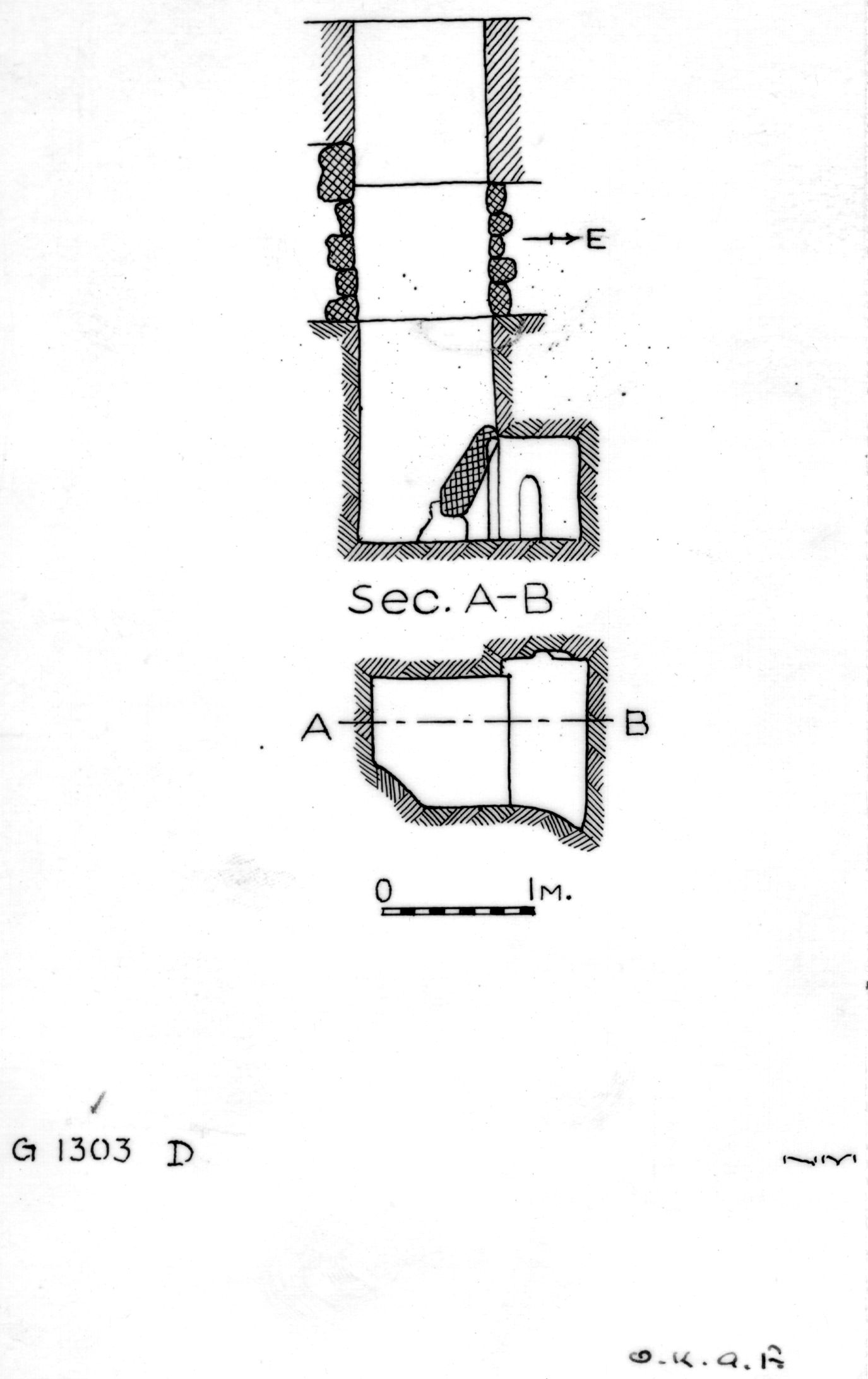 Maps and plans: G 1303, Shaft D