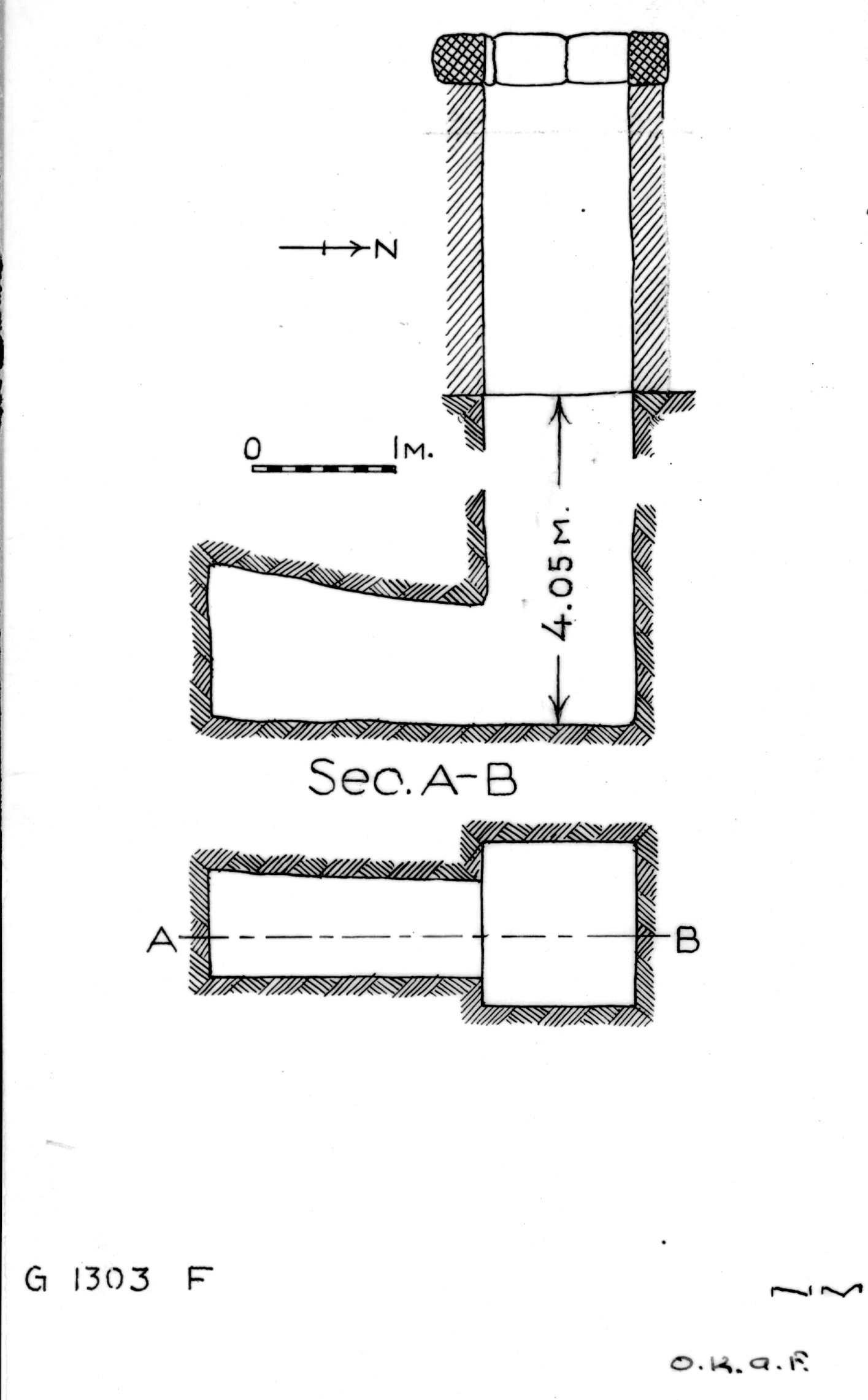 Maps and plans: G 1303, Shaft F