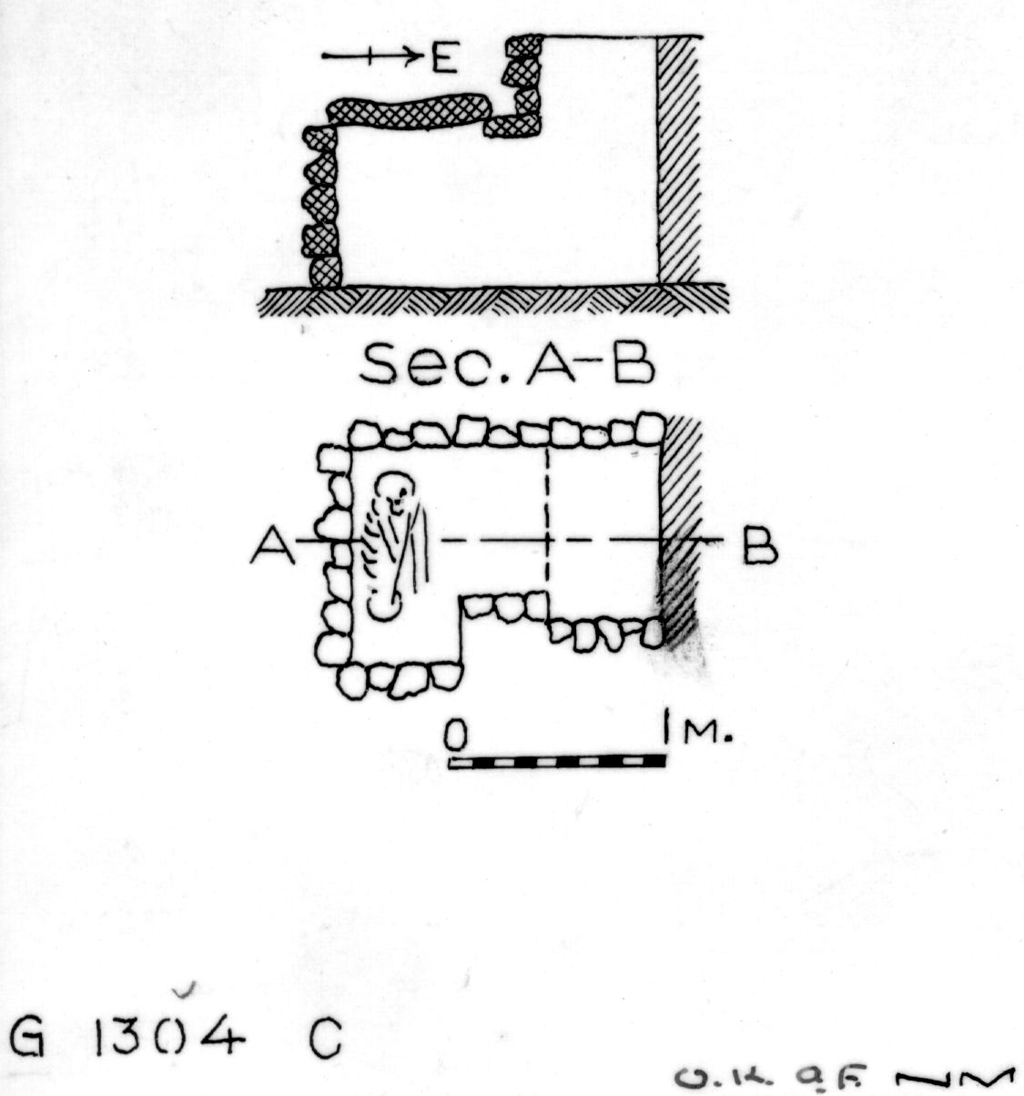 Maps and plans: G 1304, Shaft C