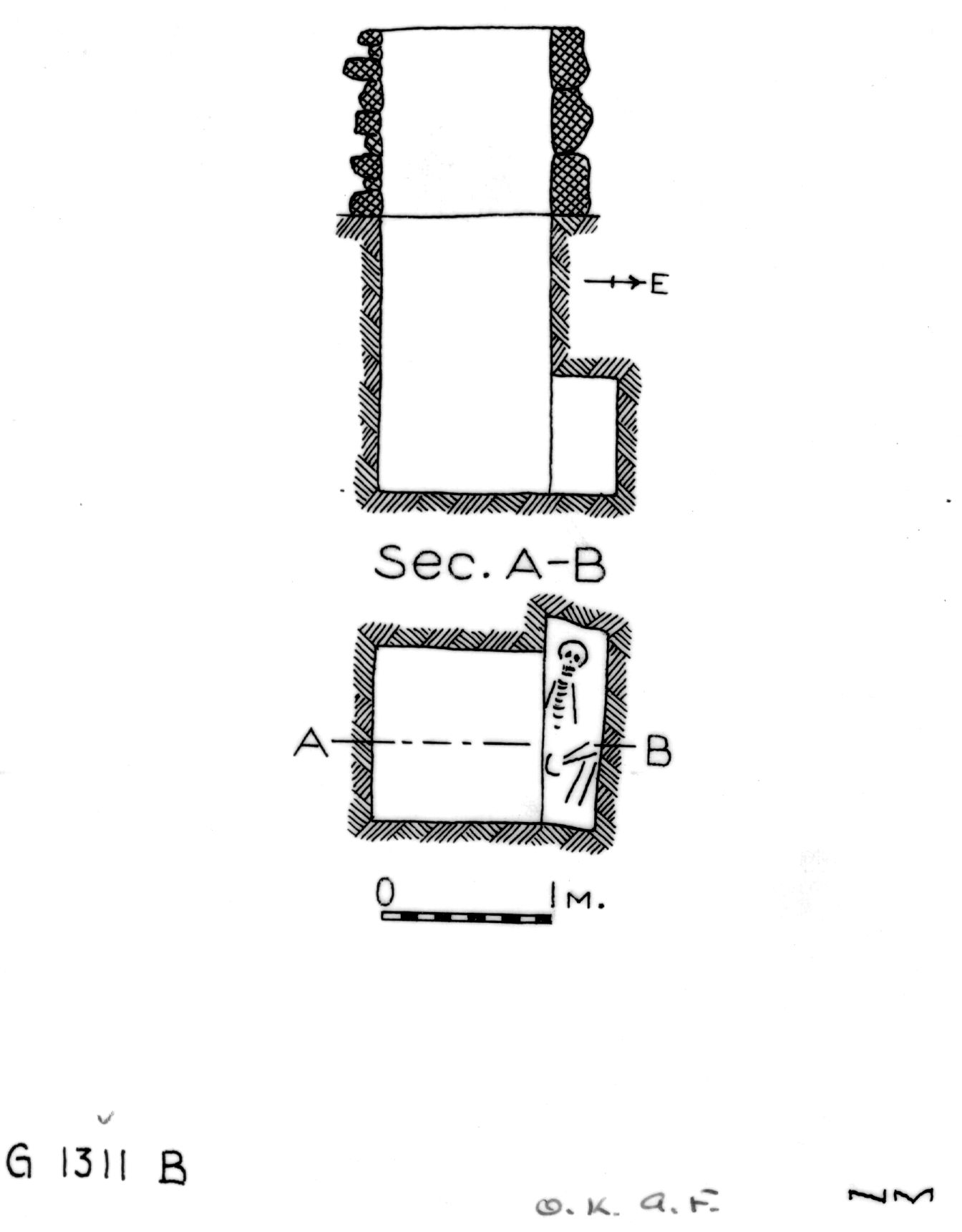 Maps and plans: G 1311, Shaft B