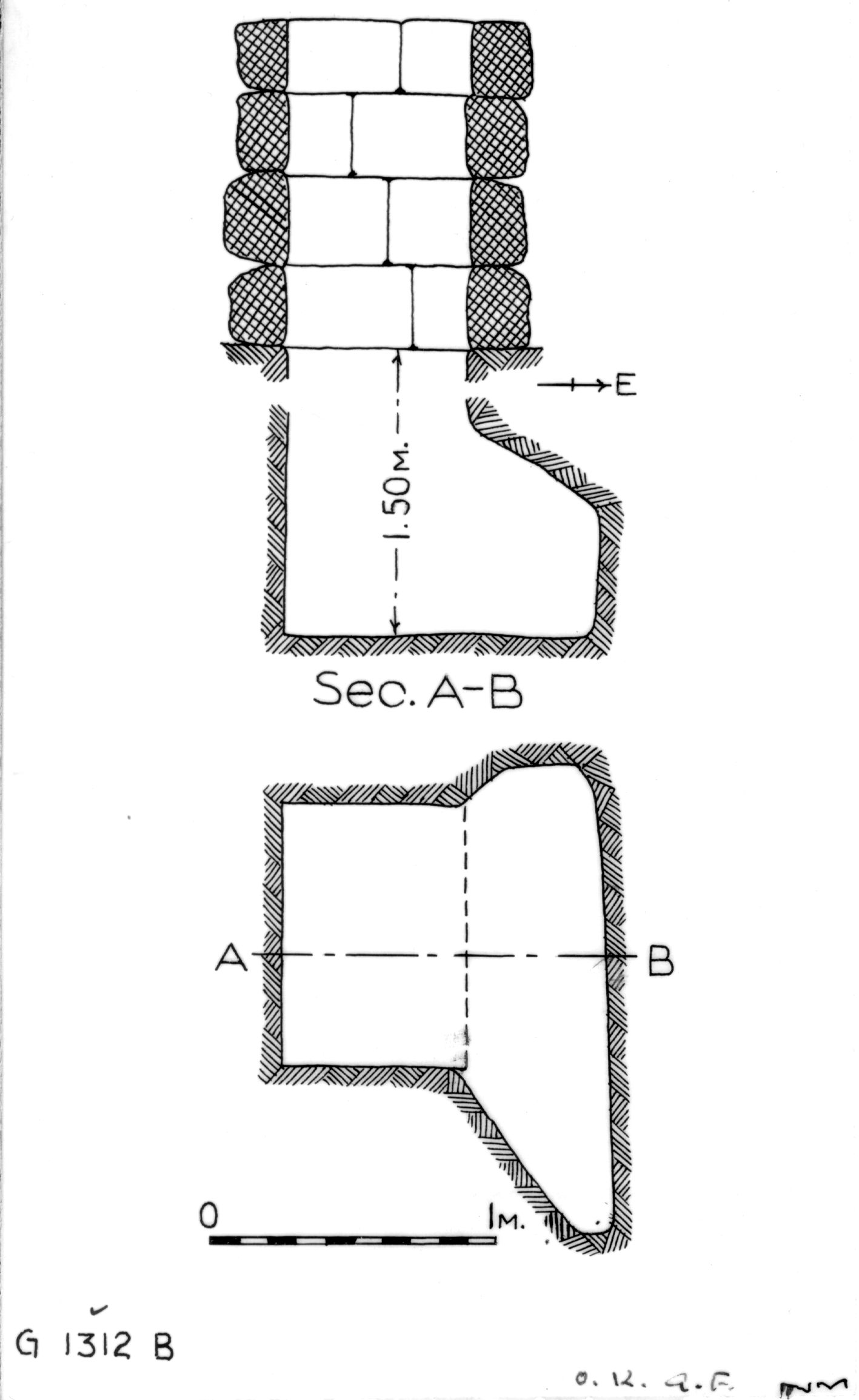 Maps and plans: G 1312, Shaft B