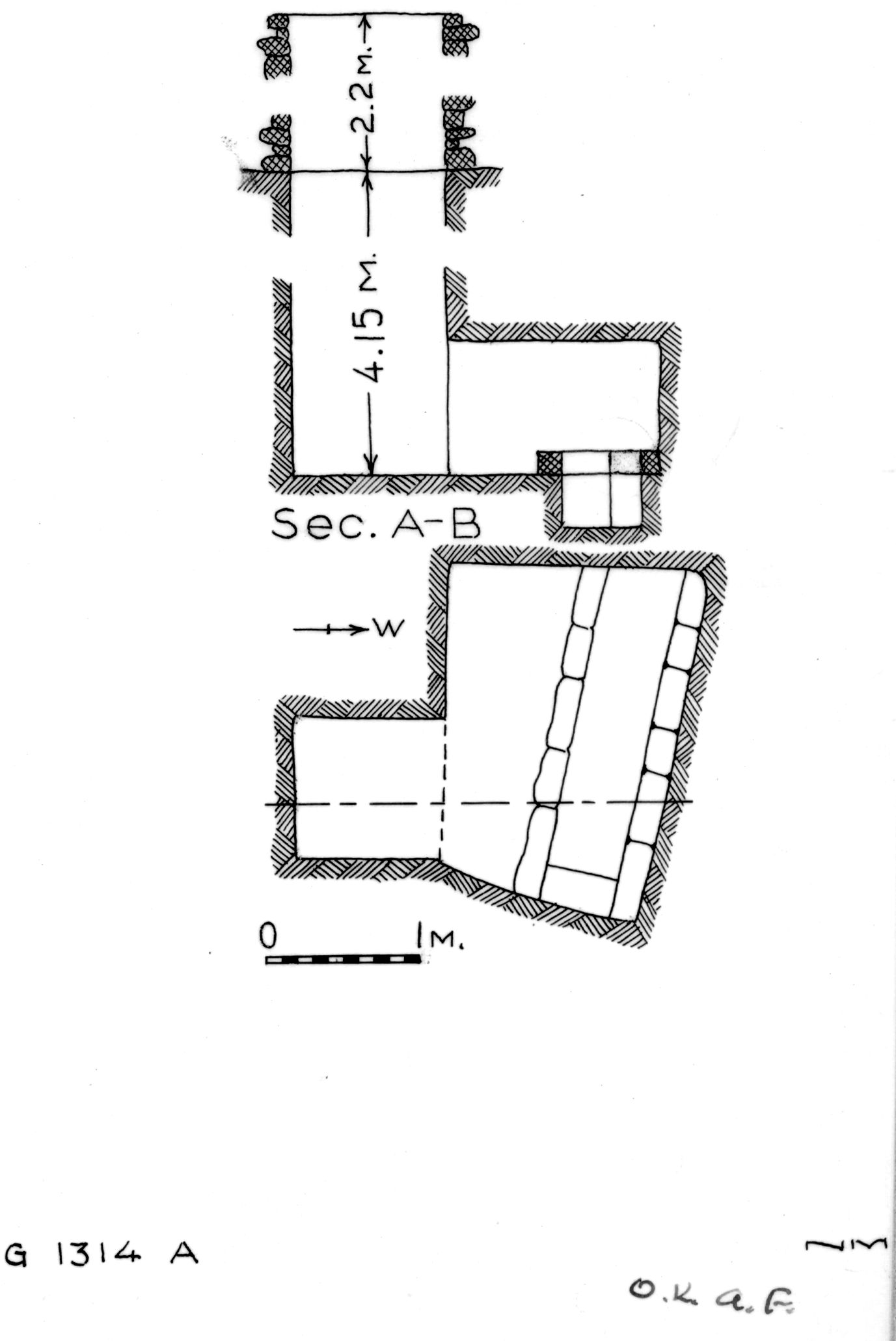 Maps and plans: G 1314, Shaft A