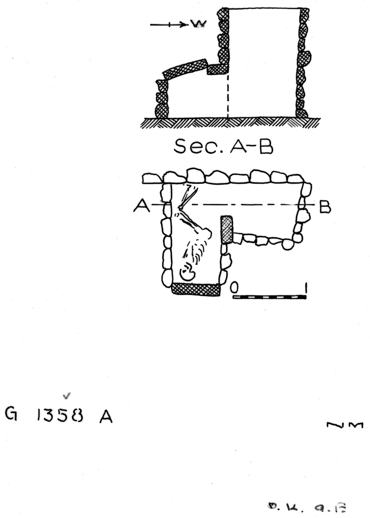 Maps and plans: G 1358, Shaft A