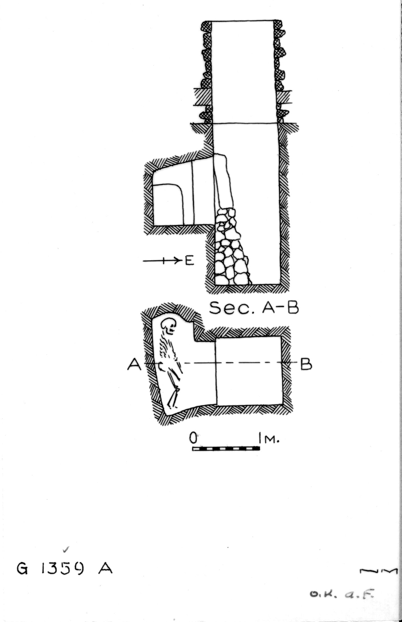 Maps and plans: G 1359, Shaft A