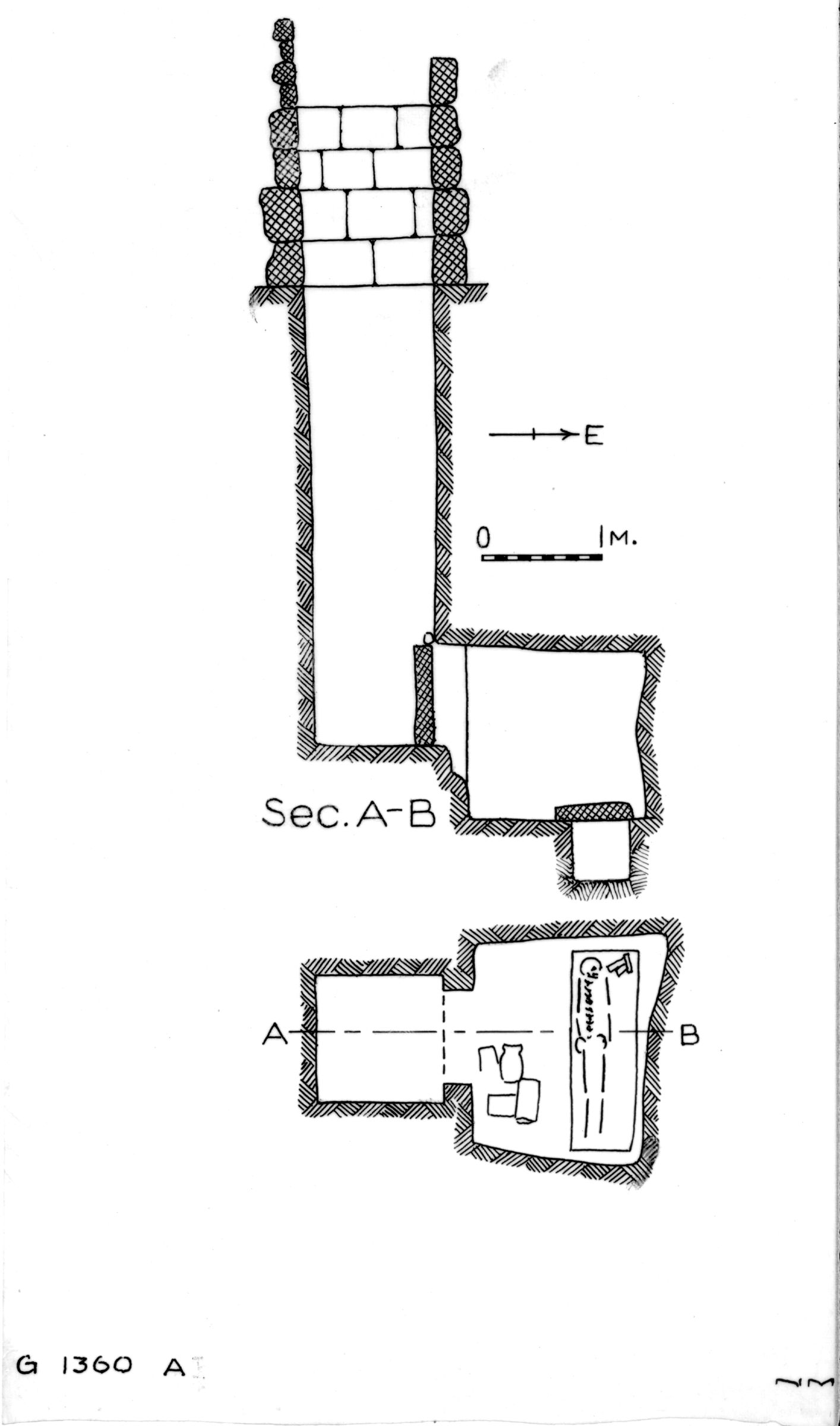 Maps and plans: G 1360, Shaft A