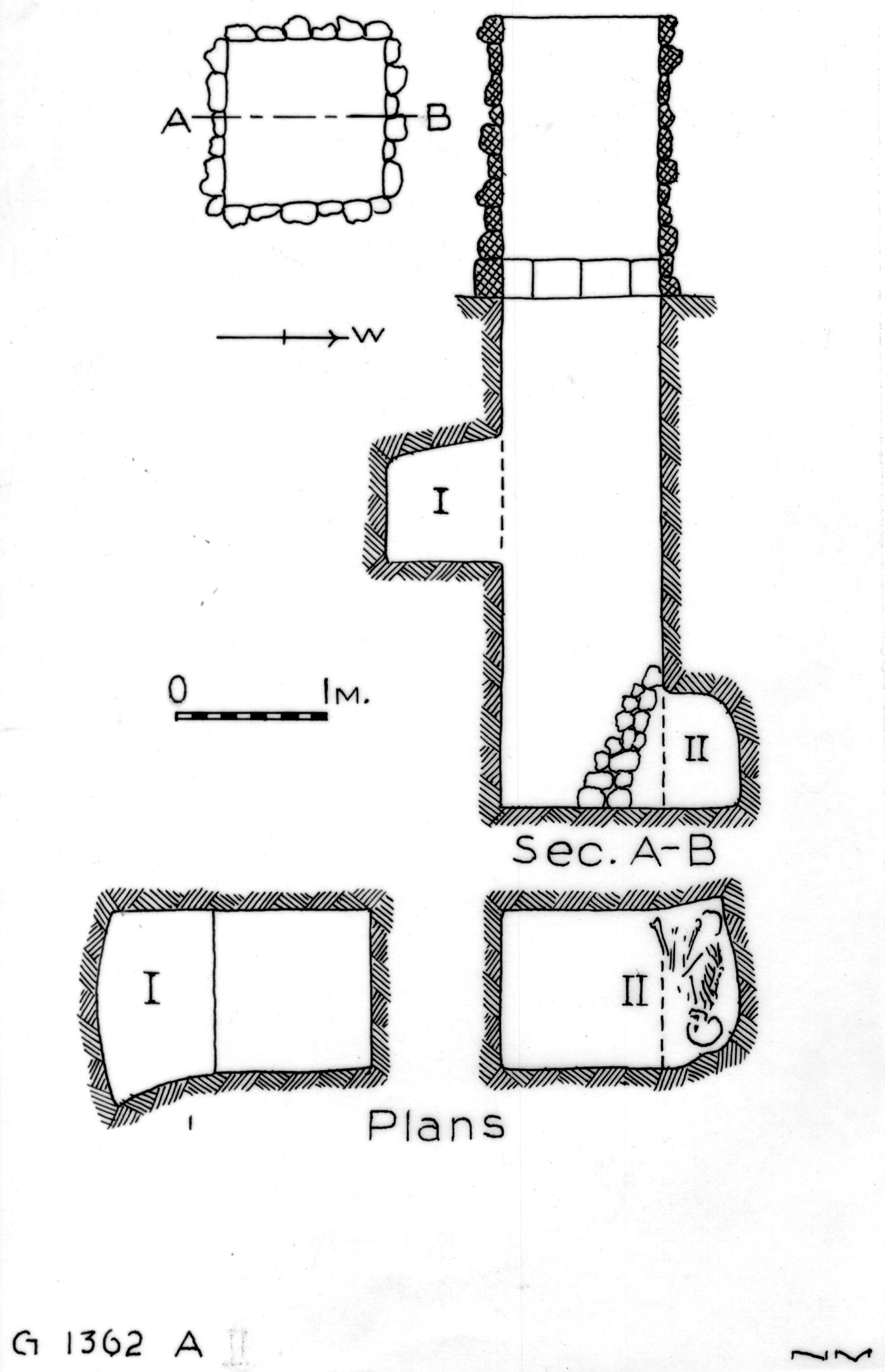 Maps and plans: G 1362, Shaft A