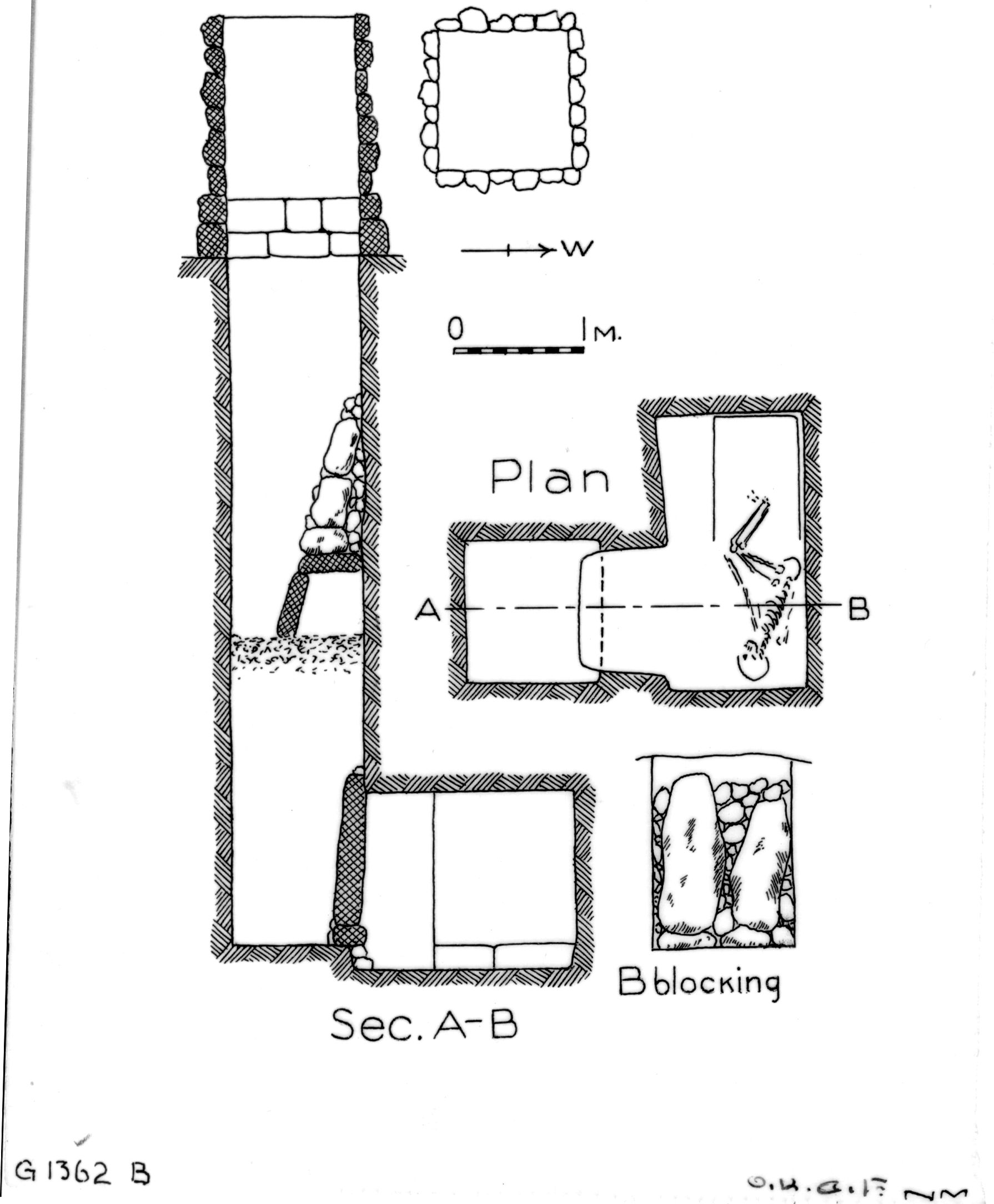 Maps and plans: G 1362, Shaft B