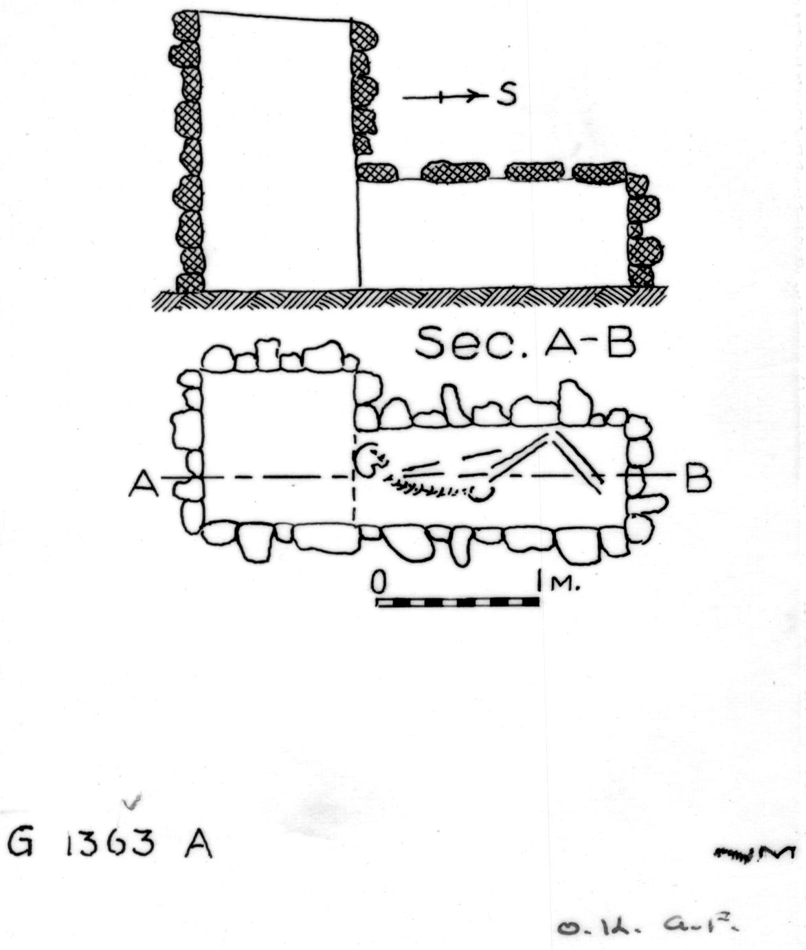 Maps and plans: G 1363, Shaft A