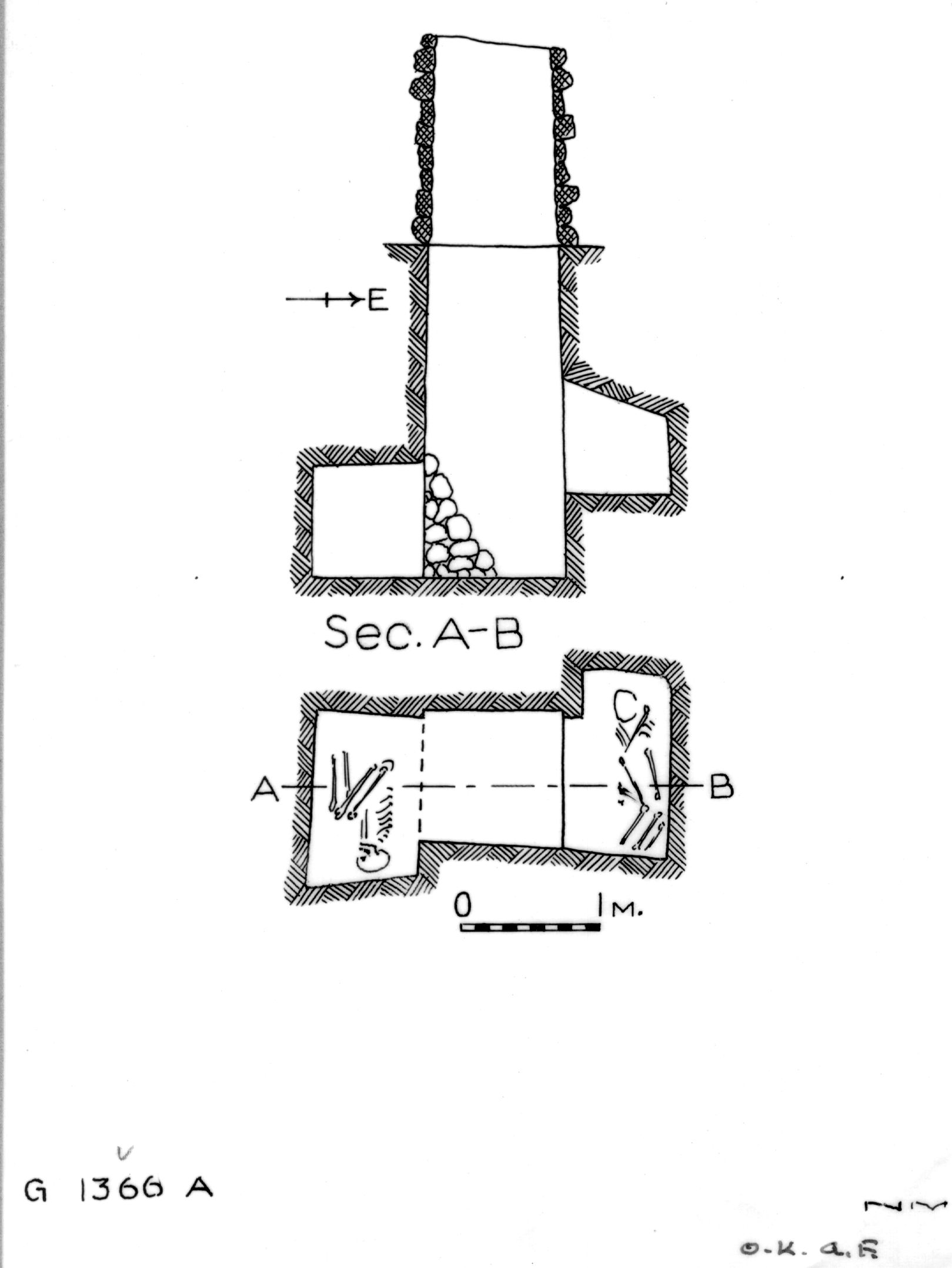 Maps and plans: G 1366, Shaft A
