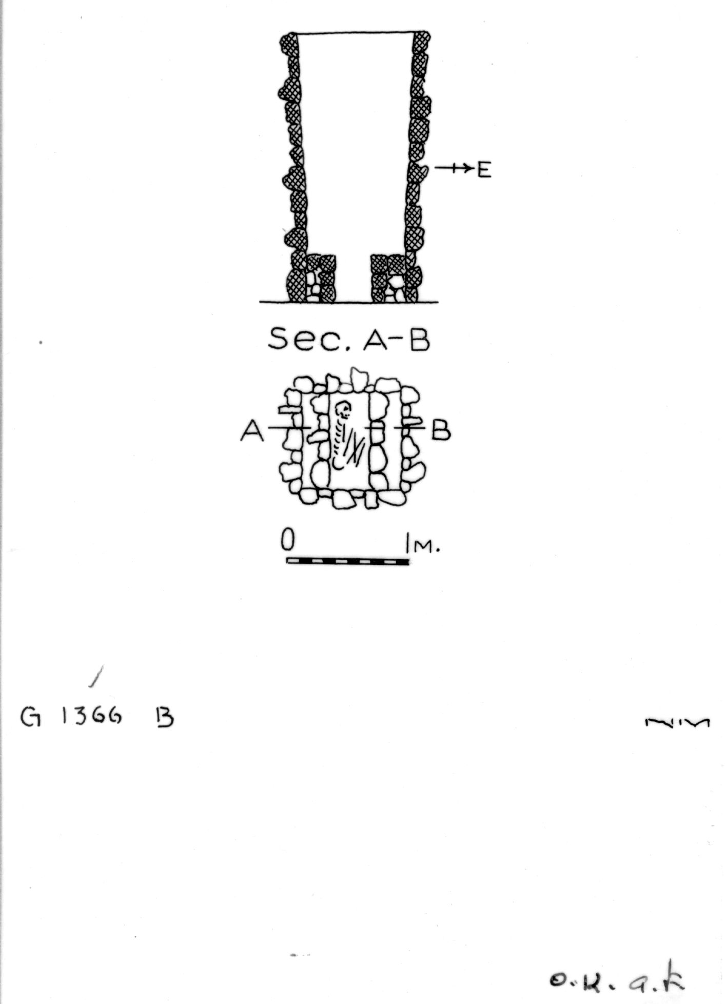 Maps and plans: G 1366, Shaft B