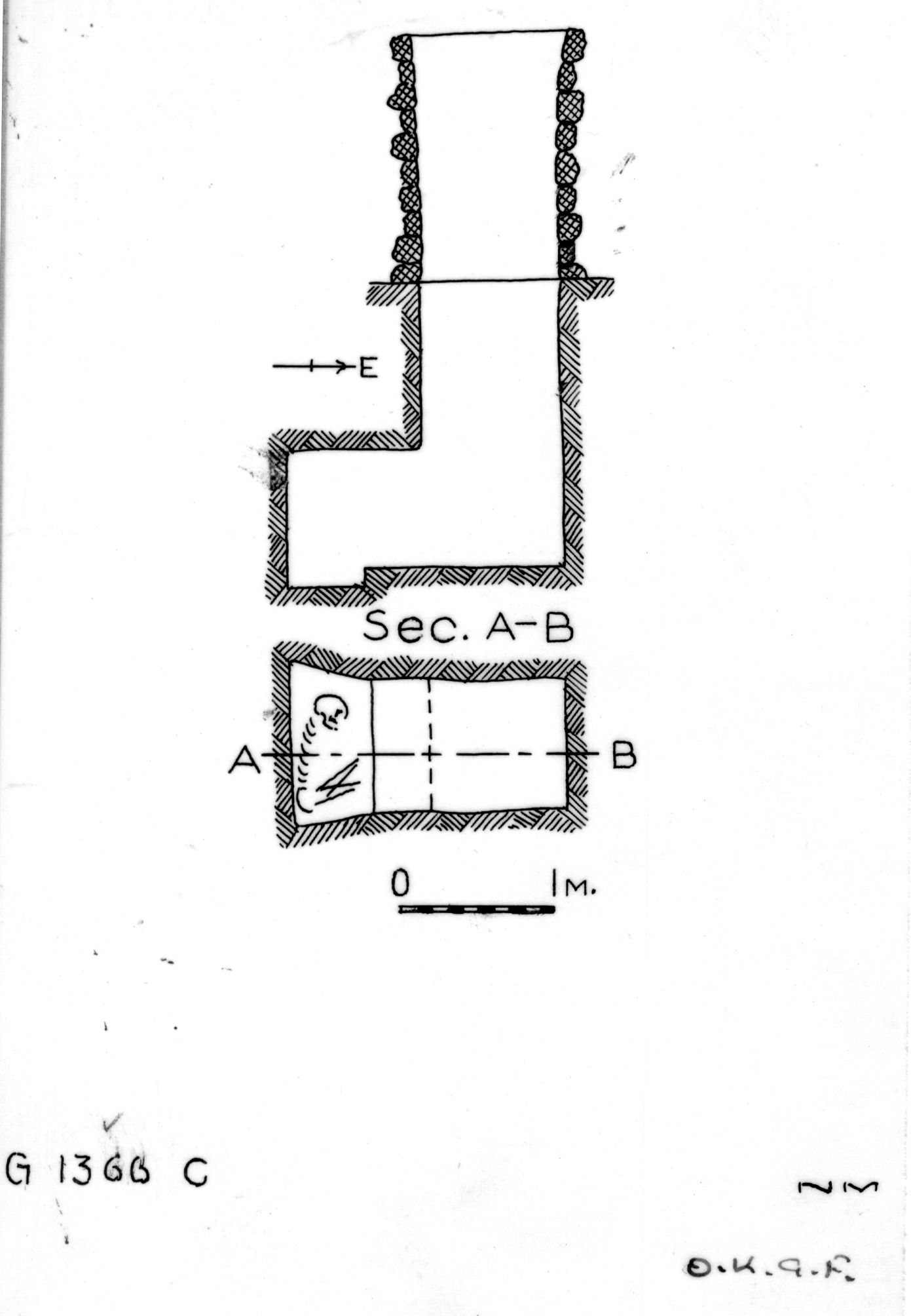 Maps and plans: G 1366, Shaft C