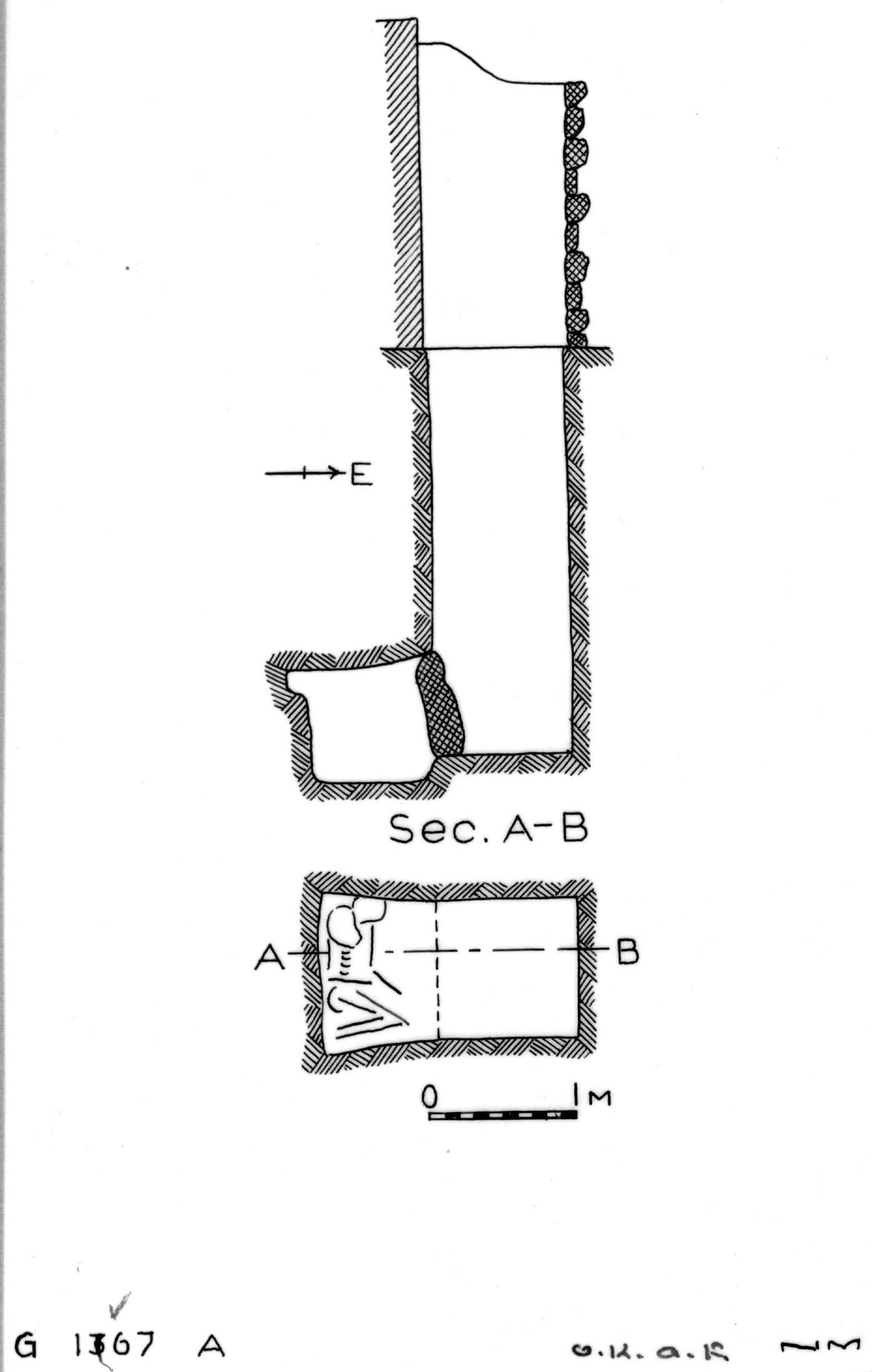 Maps and plans: G 1367, Shaft A