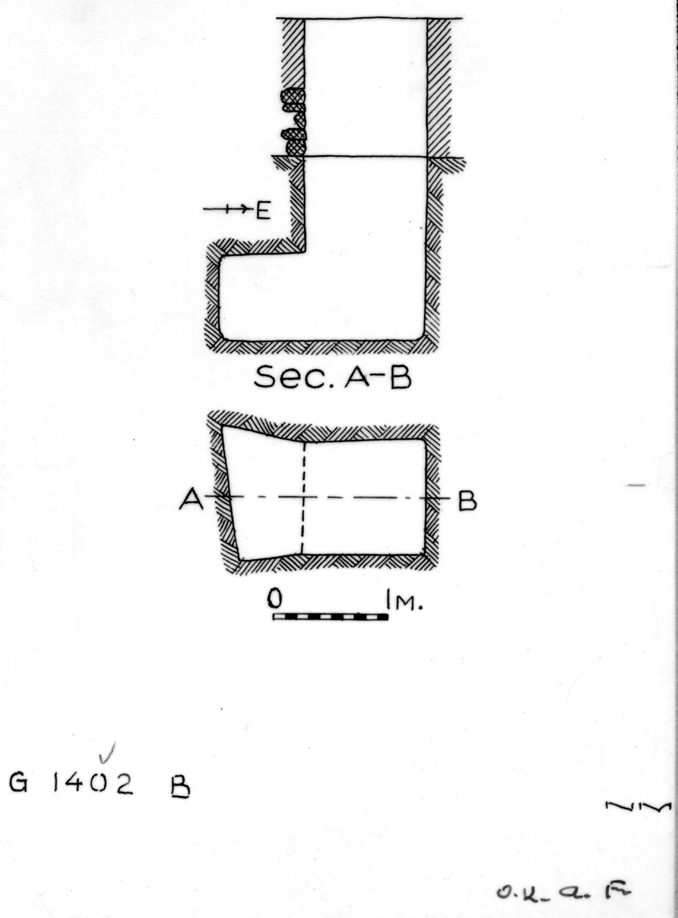 Maps and plans: G 1402, Shaft B