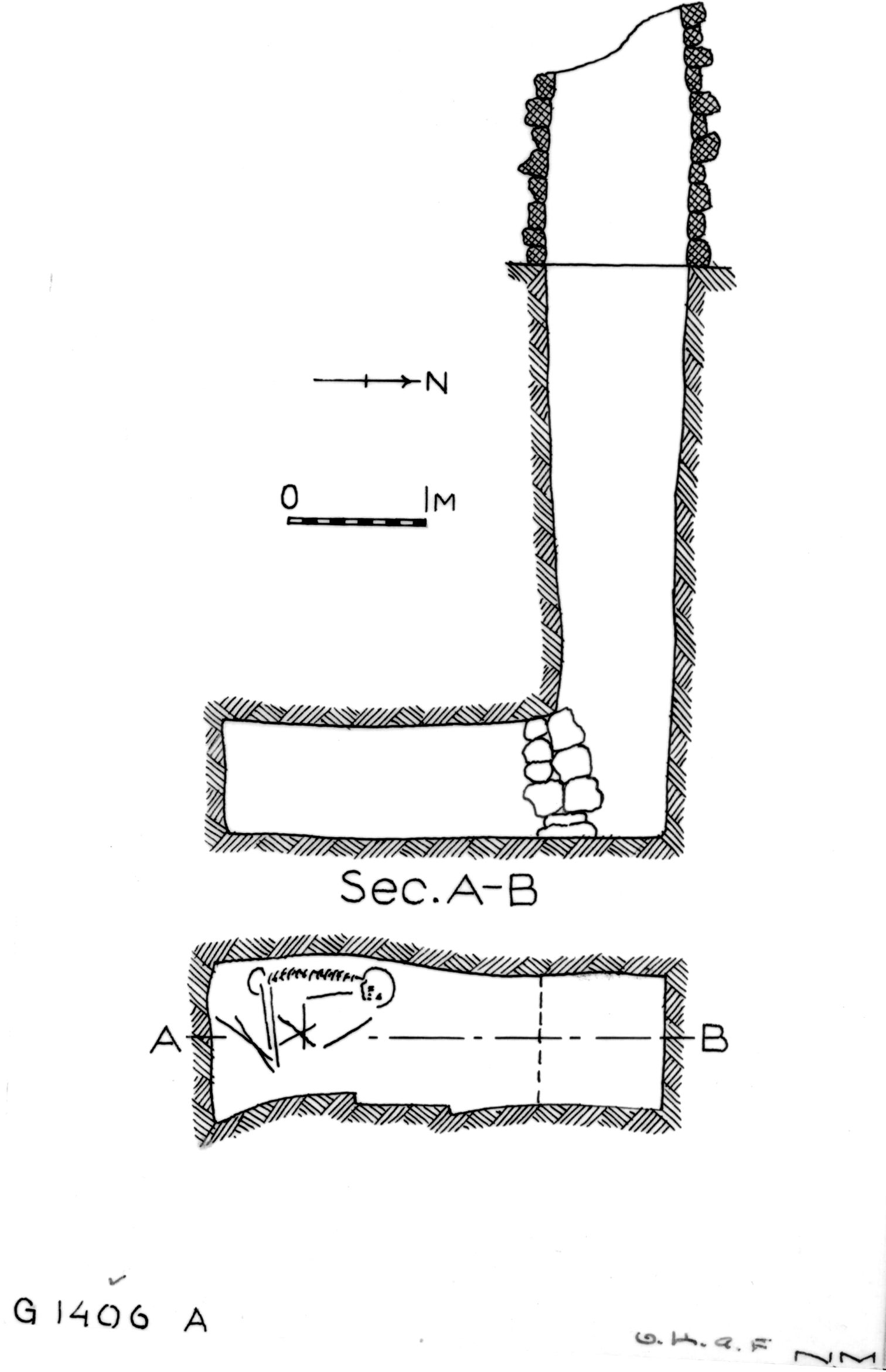 Maps and plans: G 1406, Shaft A